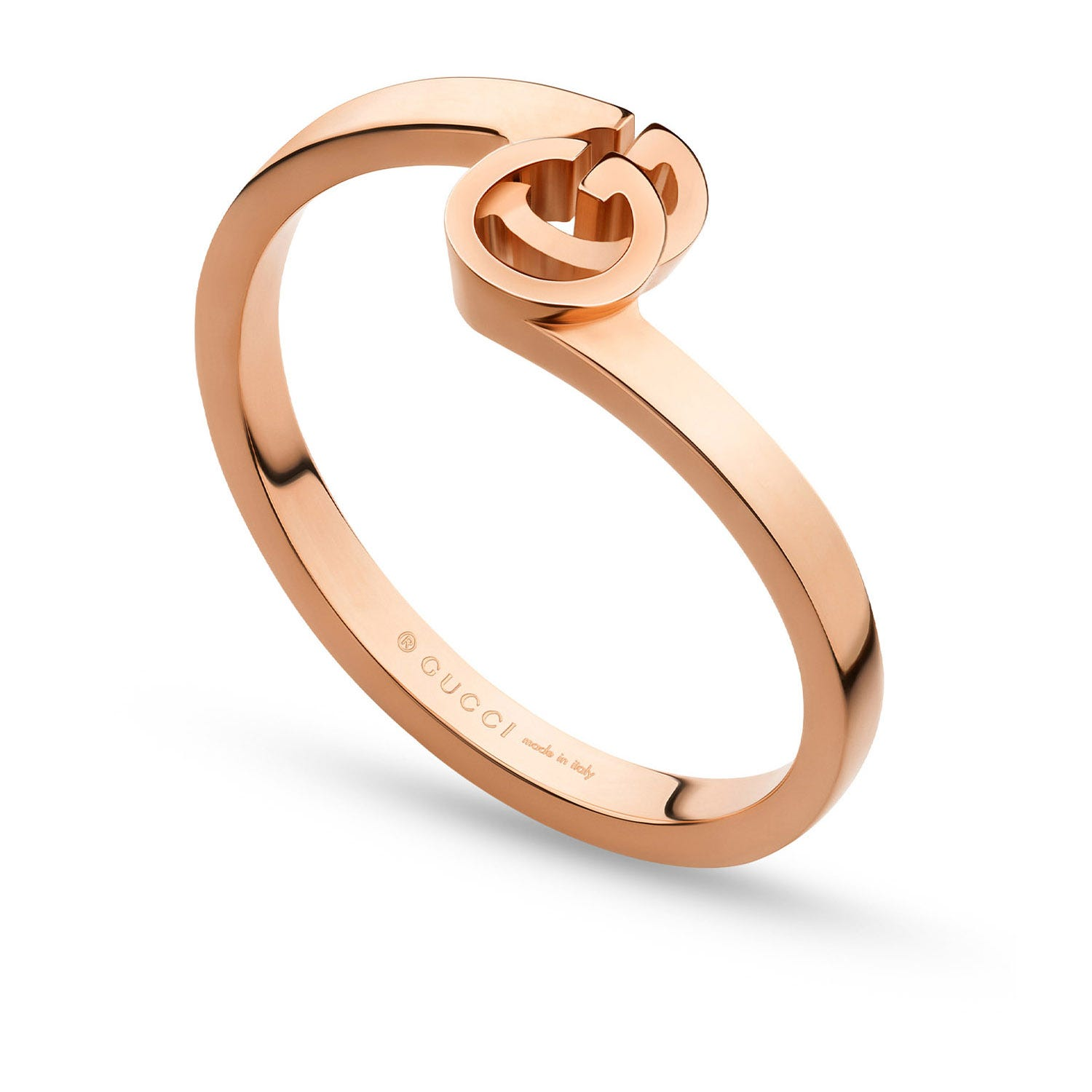 Gucci GG Running 18ct Rose Gold Ring