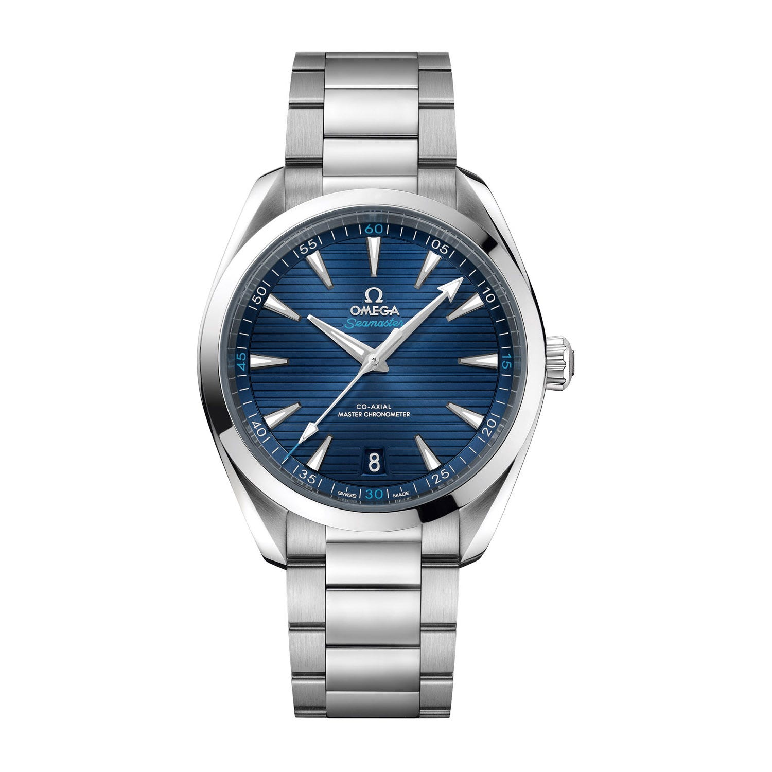 Omega Seamaster Aqua Terra Blue Dial Stainless Steel Men's Watch