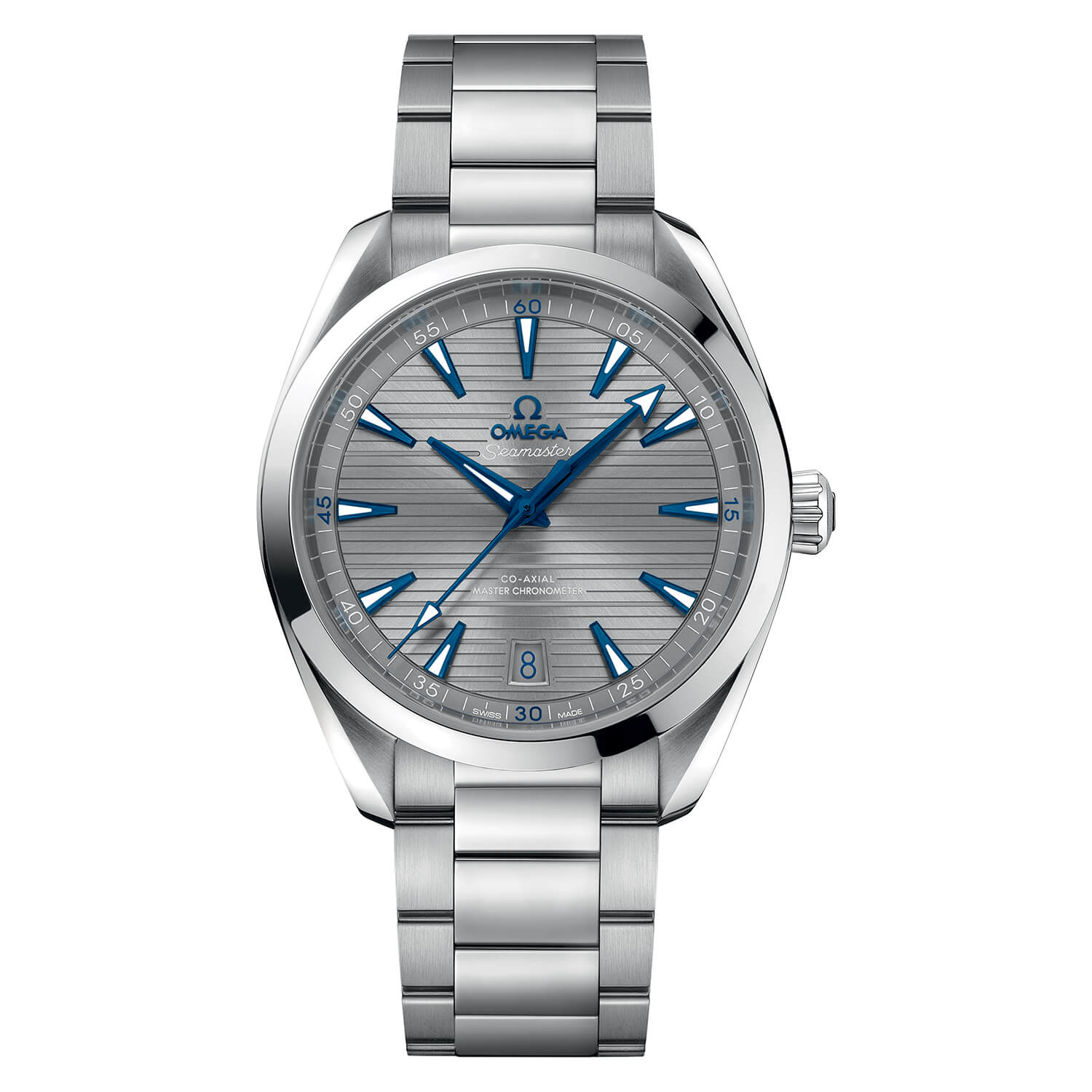 Omega Seamaster Automatic Stainless Steel Grey Dial Men's Watch