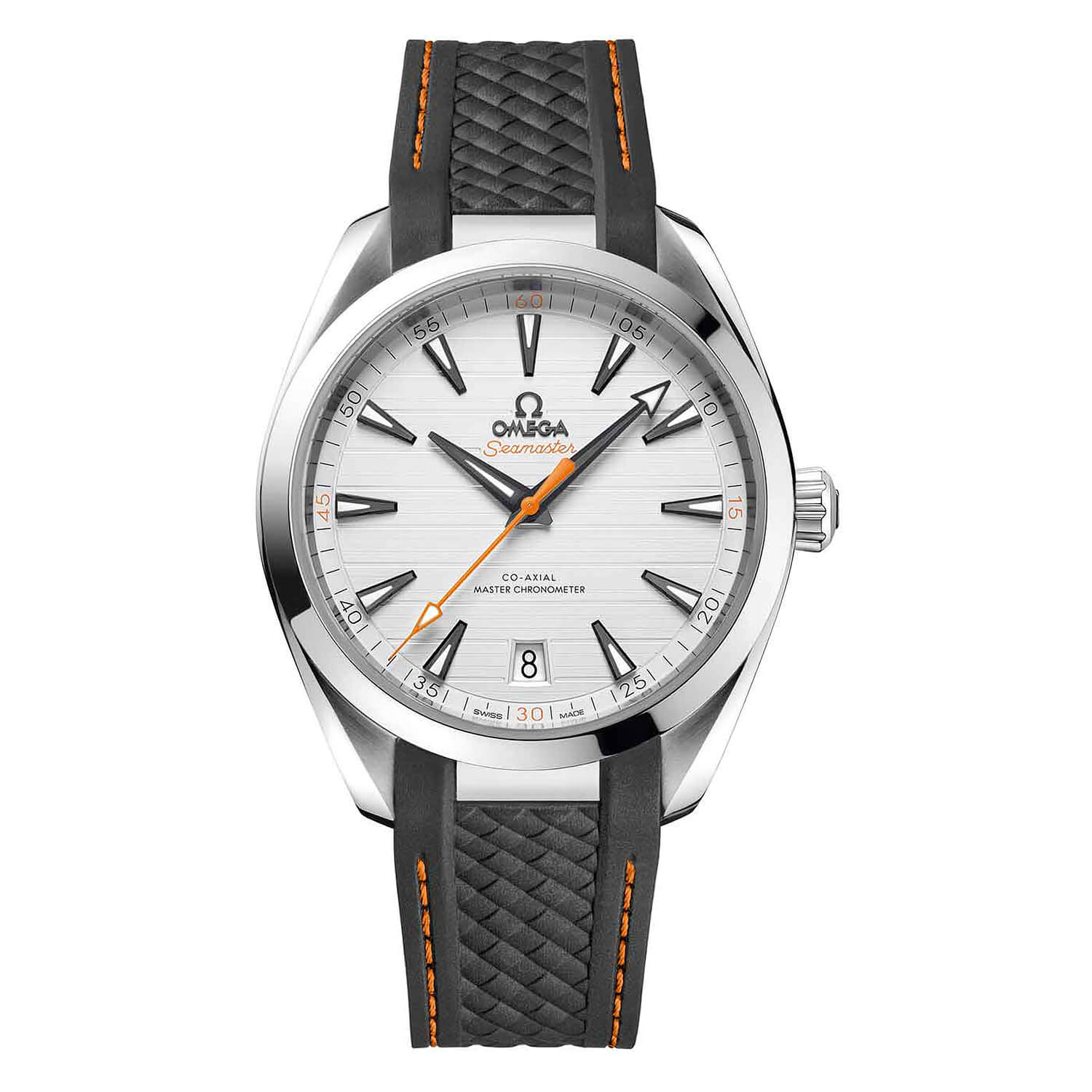 Omega Seamaster Aqua Terra Co-Axial Master Chronometer 41mm Grey Rubber Strap Men's Watch