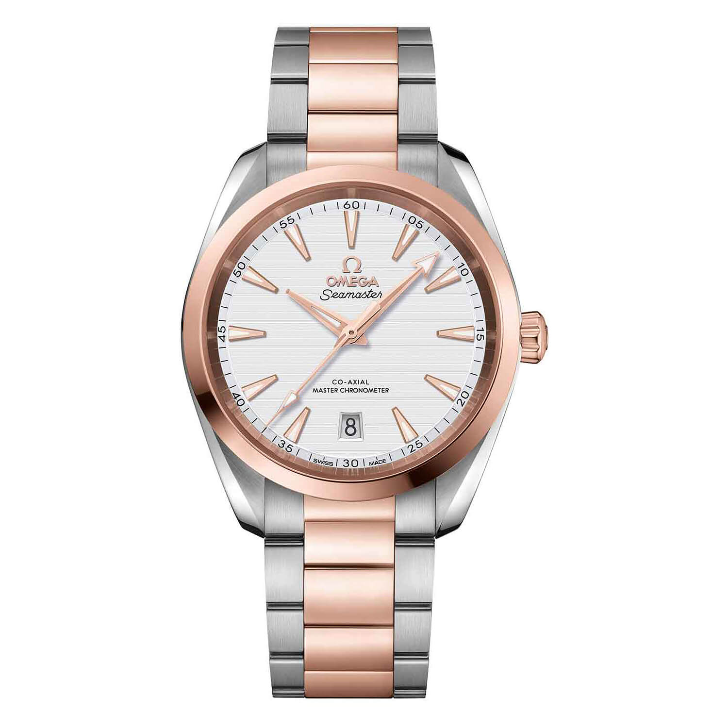 Omega Seamaster Automatic Stainless Steel and Rose Gold White Dial Men's Watch