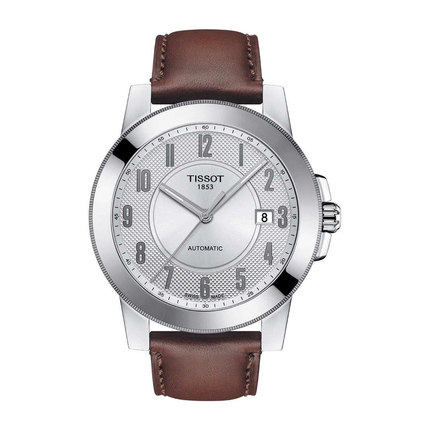 Tissot T-Sport Gentleman Swissmatic Stainless-Steel Brown Leather Men's Watch