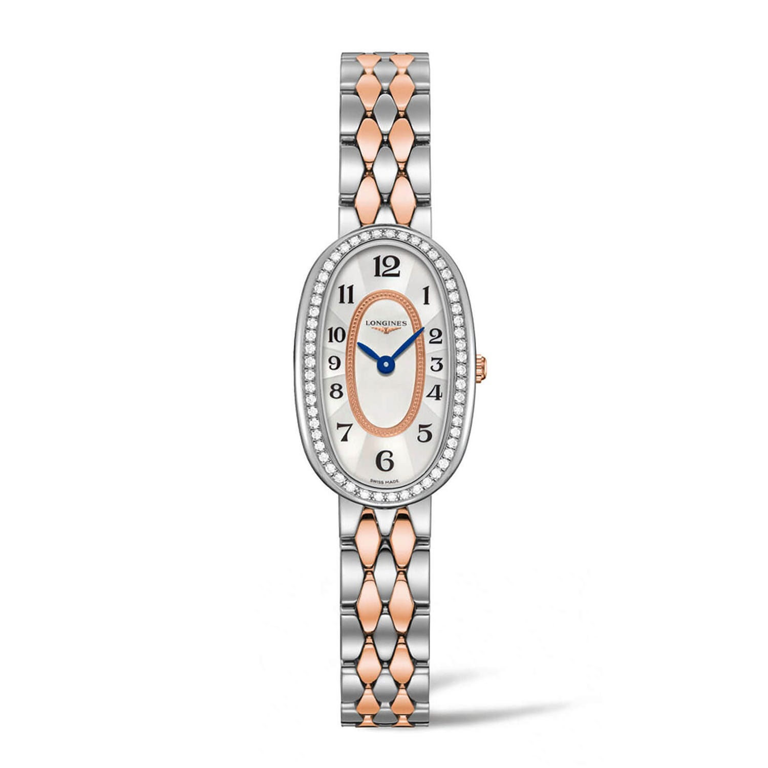 Longines Symphonette 18ct Rose Gold and Stainless Steel Diamond Ladies Watch