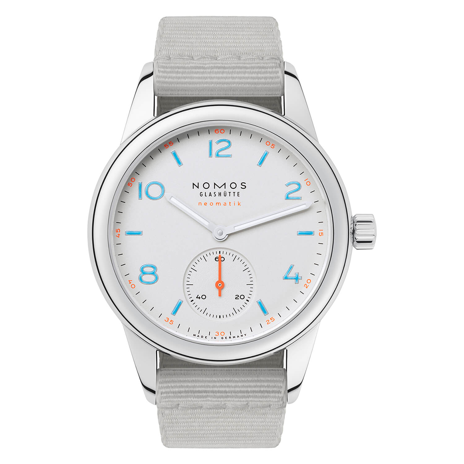 NOMOS Club Neomatik Ladies Light Gray Strap Watch
