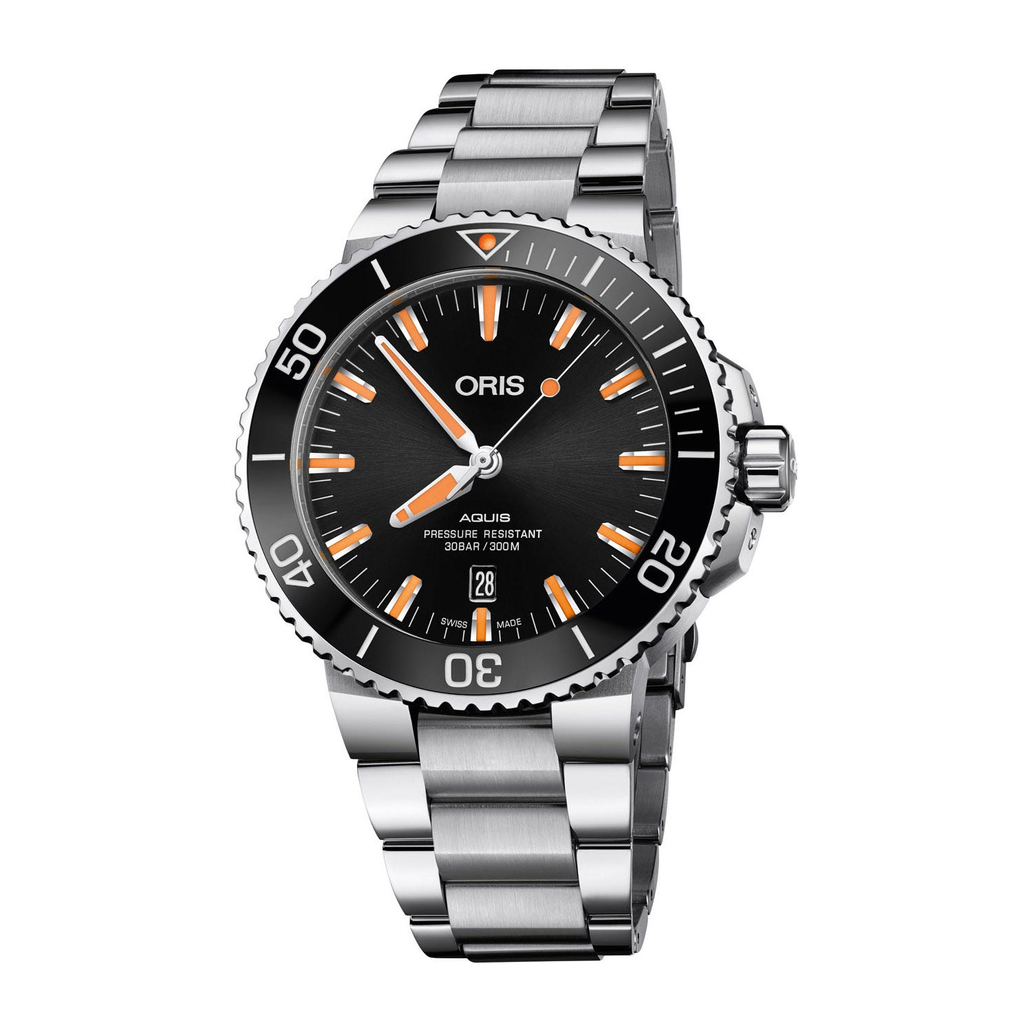 Oris Aquis Date Automatic Stainless Steel Mens Watch