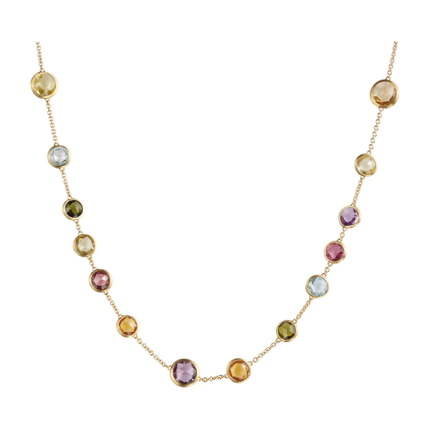Marco Bicego Jaipur 18ct Yellow Gold & Mixed Gemstones Small Bead Necklace