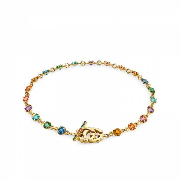 Gucci GG Running 18ct Yellow Gold Multi-Stone Bracelet