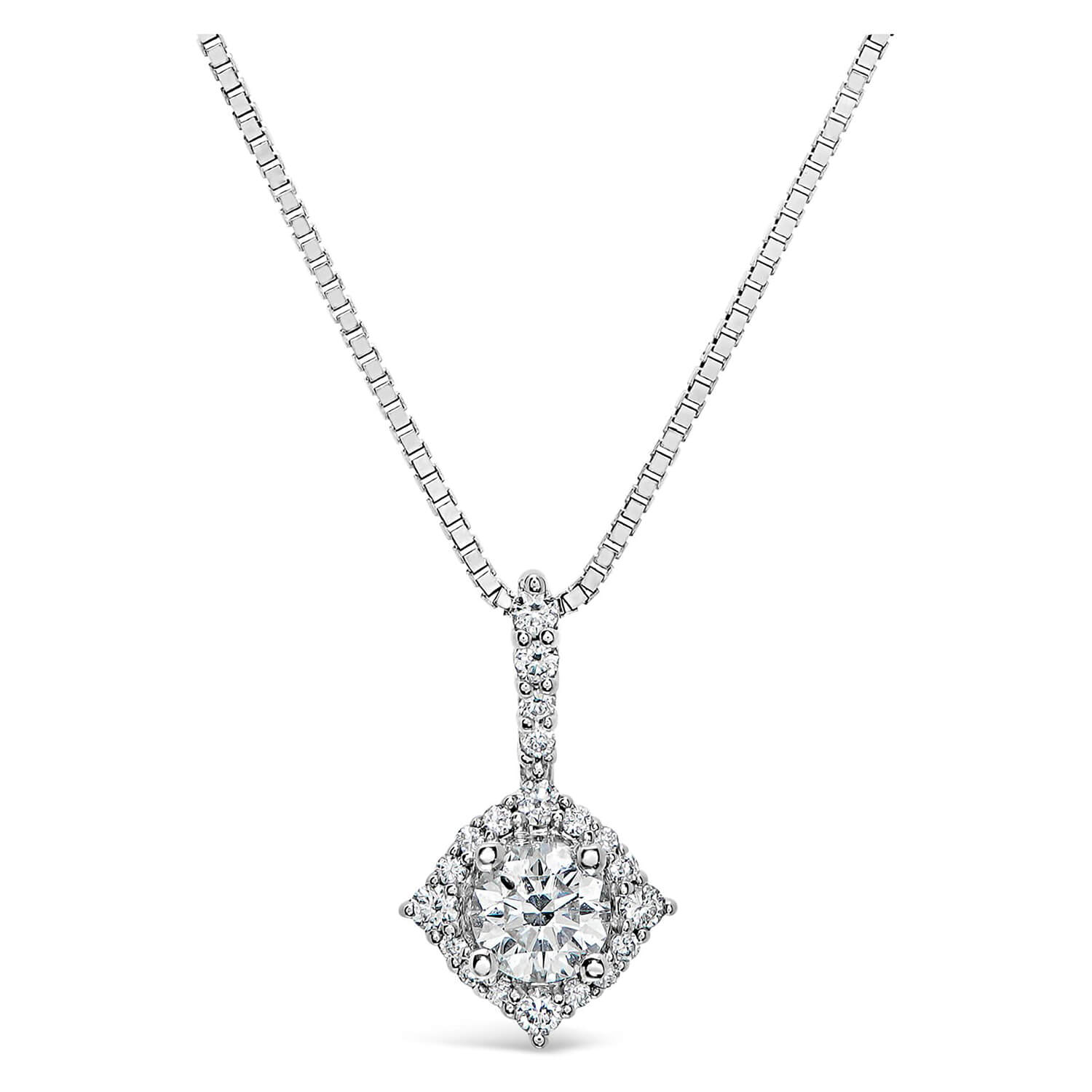 Northern Star 0.33ct Diamond 18ct White Gold Halo Pendant