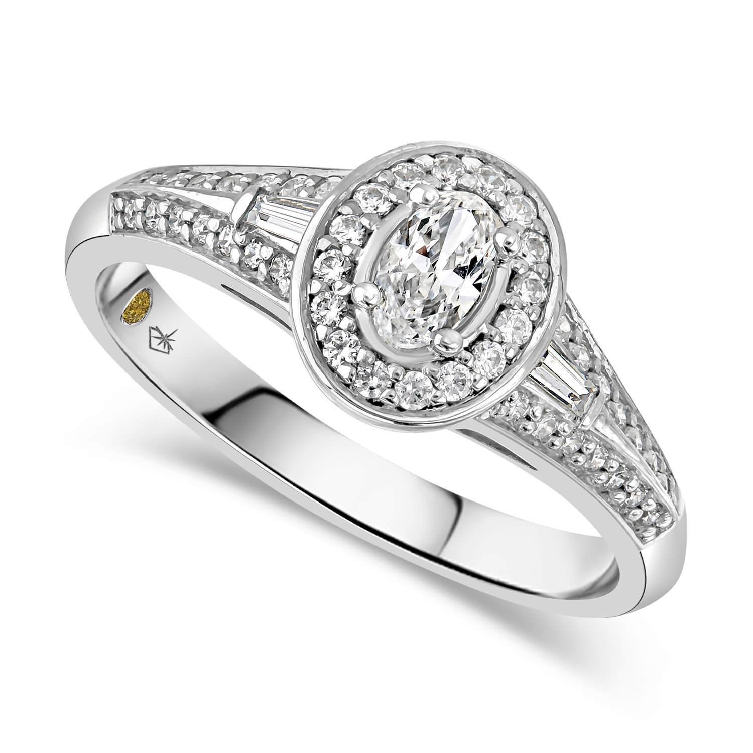 Northern Star 0.50ct Oval Diamond 18ct White Gold Ring
