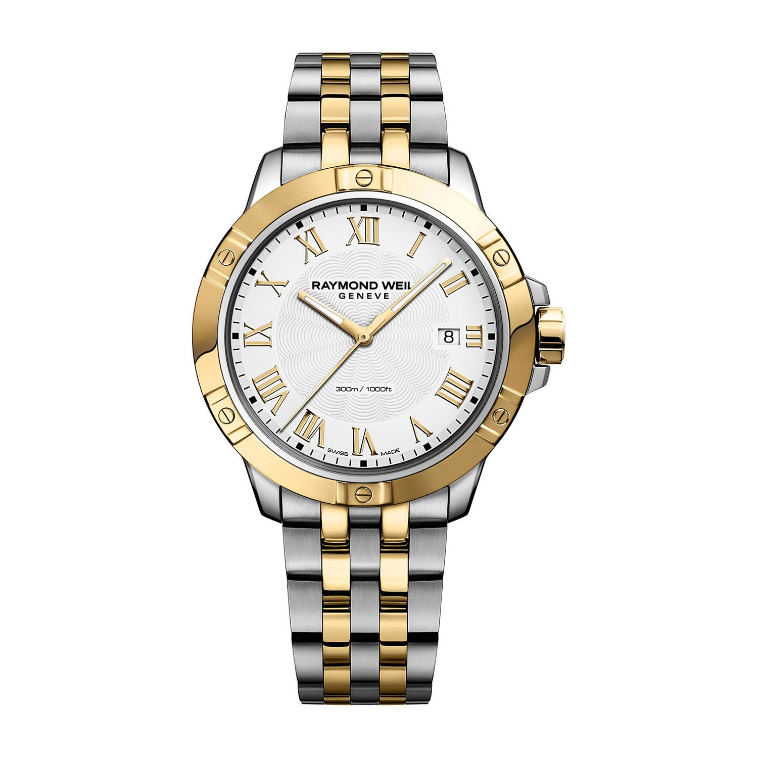 Raymond Weil Tango Quartz 41mm Silver Dial and Gold-Tone Men's Watch