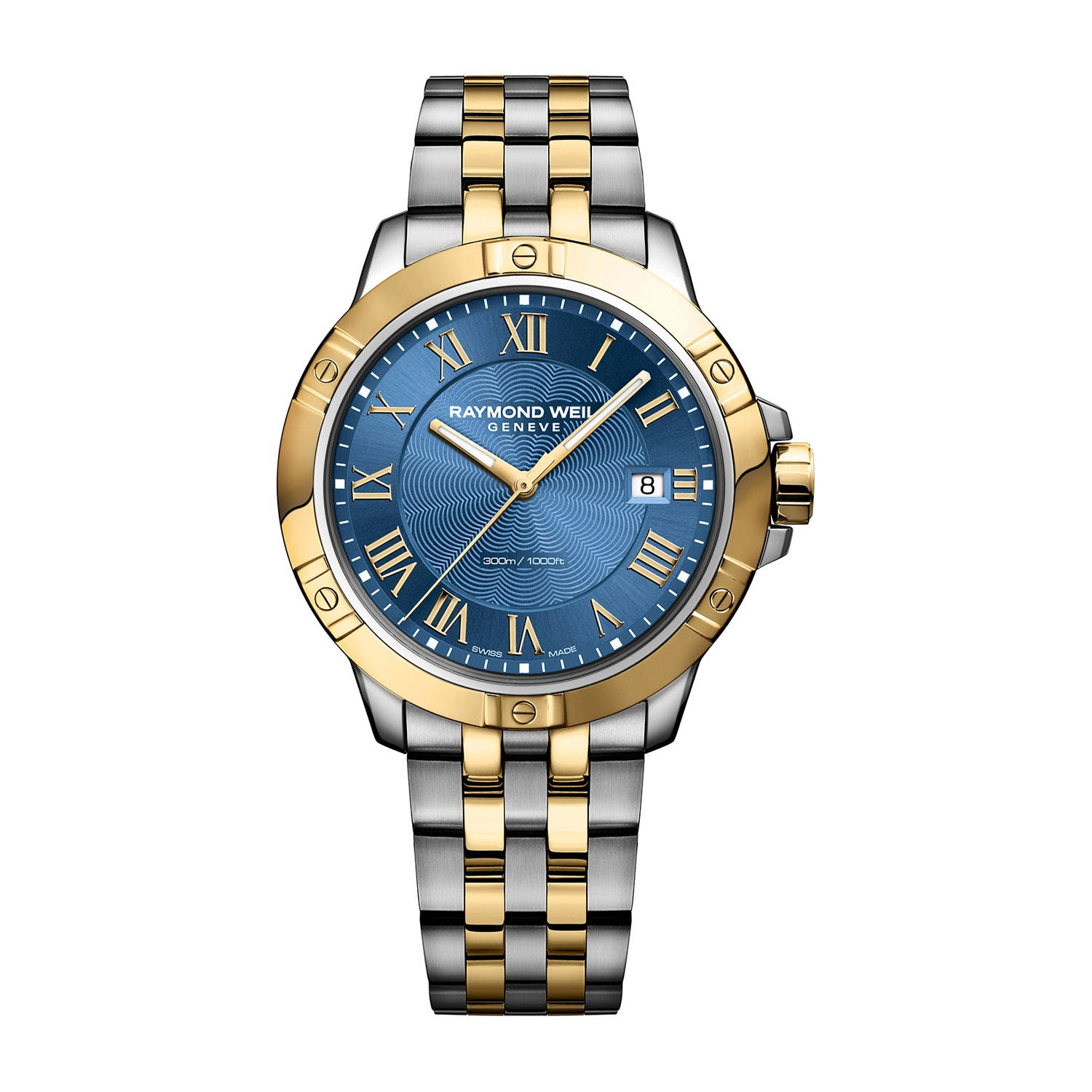 Raymond Weil Tango Quartz 41mm Blue Dial and Gold-Tone Men's Watch