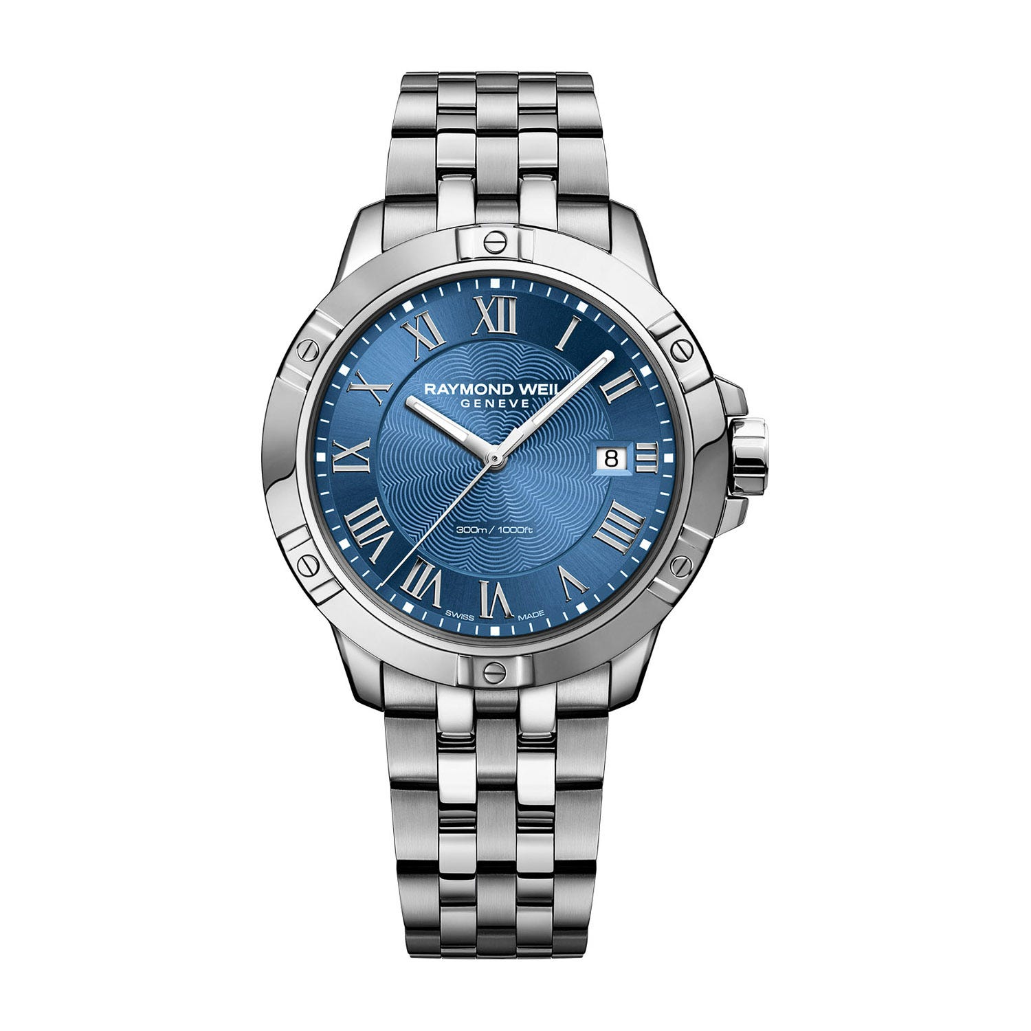Raymond Weil Tango Quartz 41mm Blue Dial Stainless Steel Men's Watch