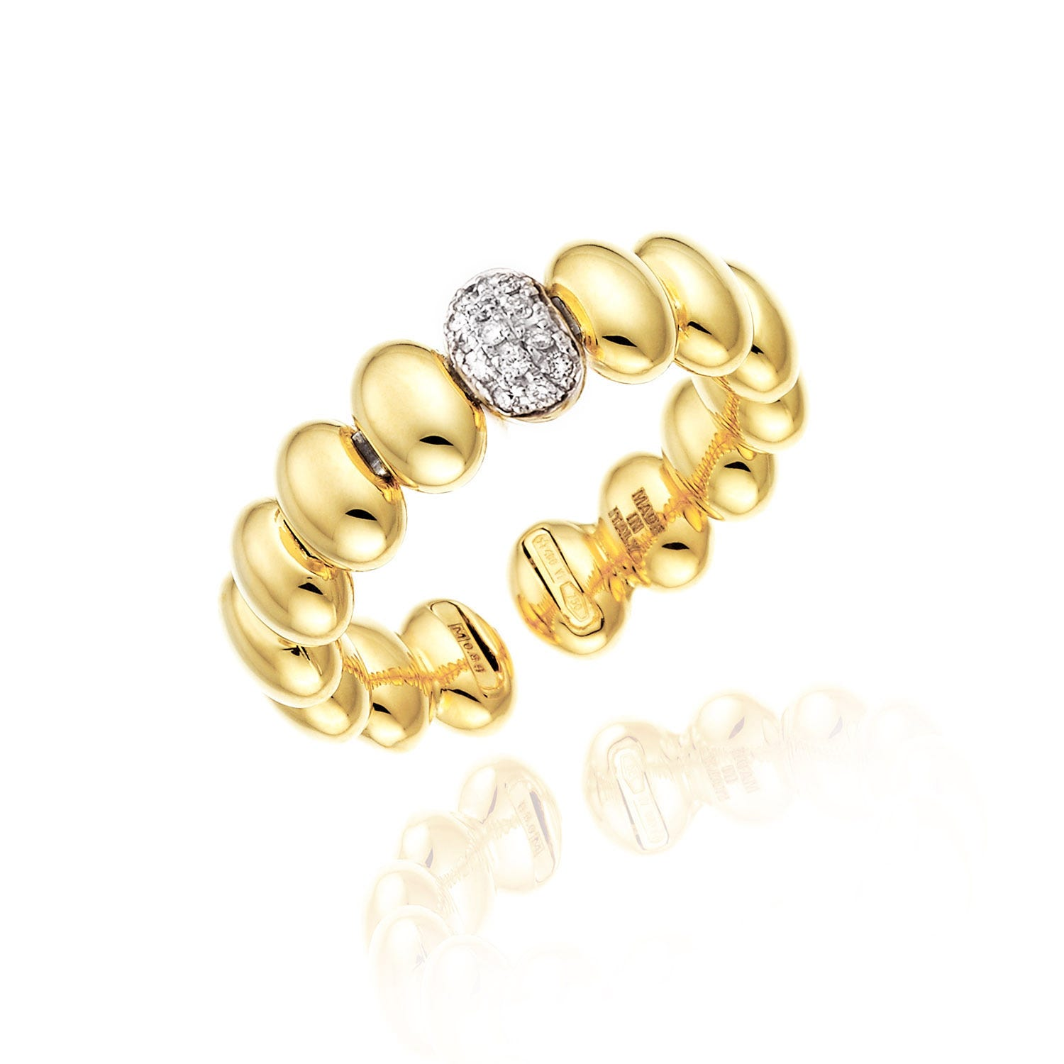 Chimento 18ct Yellow Gold and Diamond Armillas Collection Acqua Ring