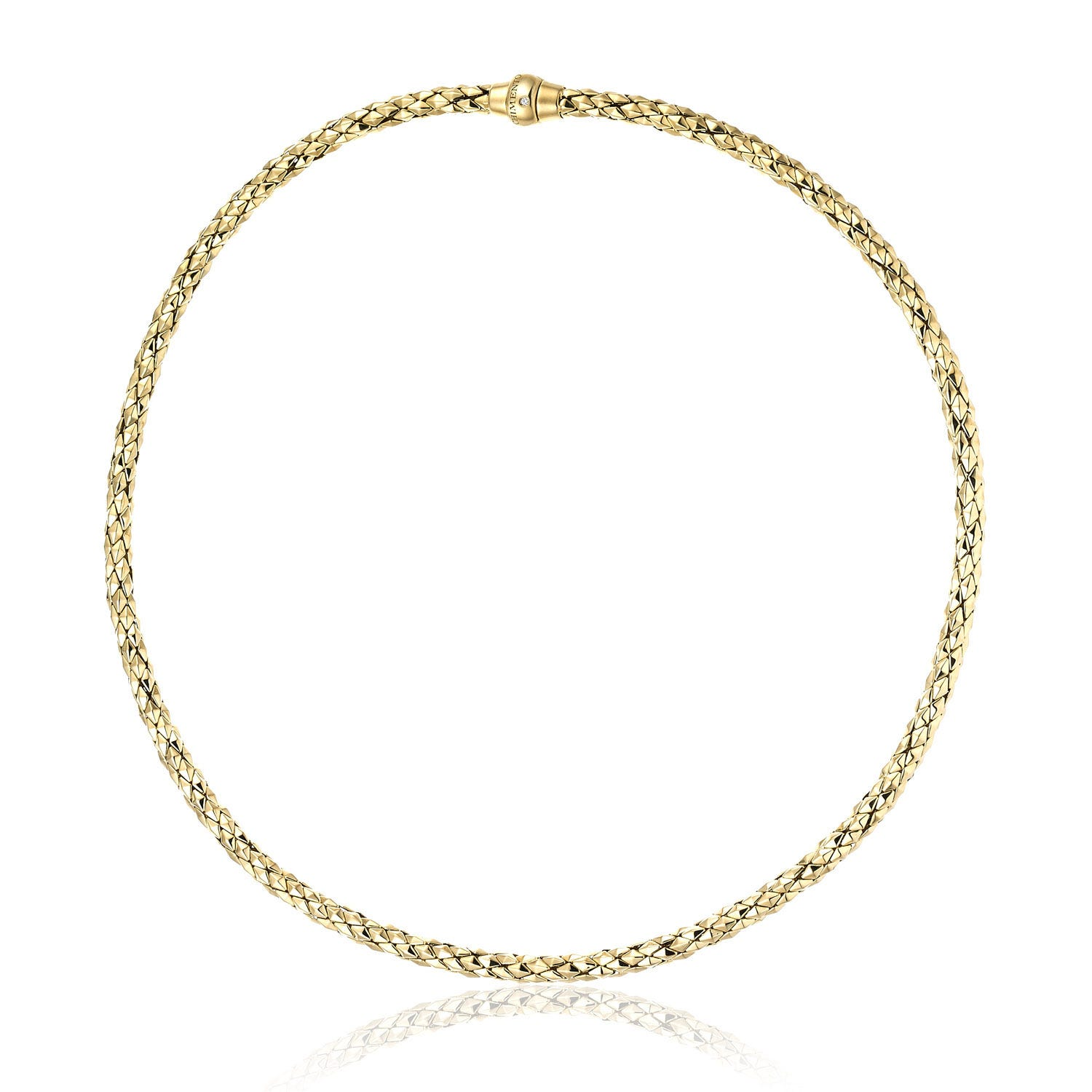 Chimento 18ct Yellow Gold and Diamond Stretch Classic Necklace