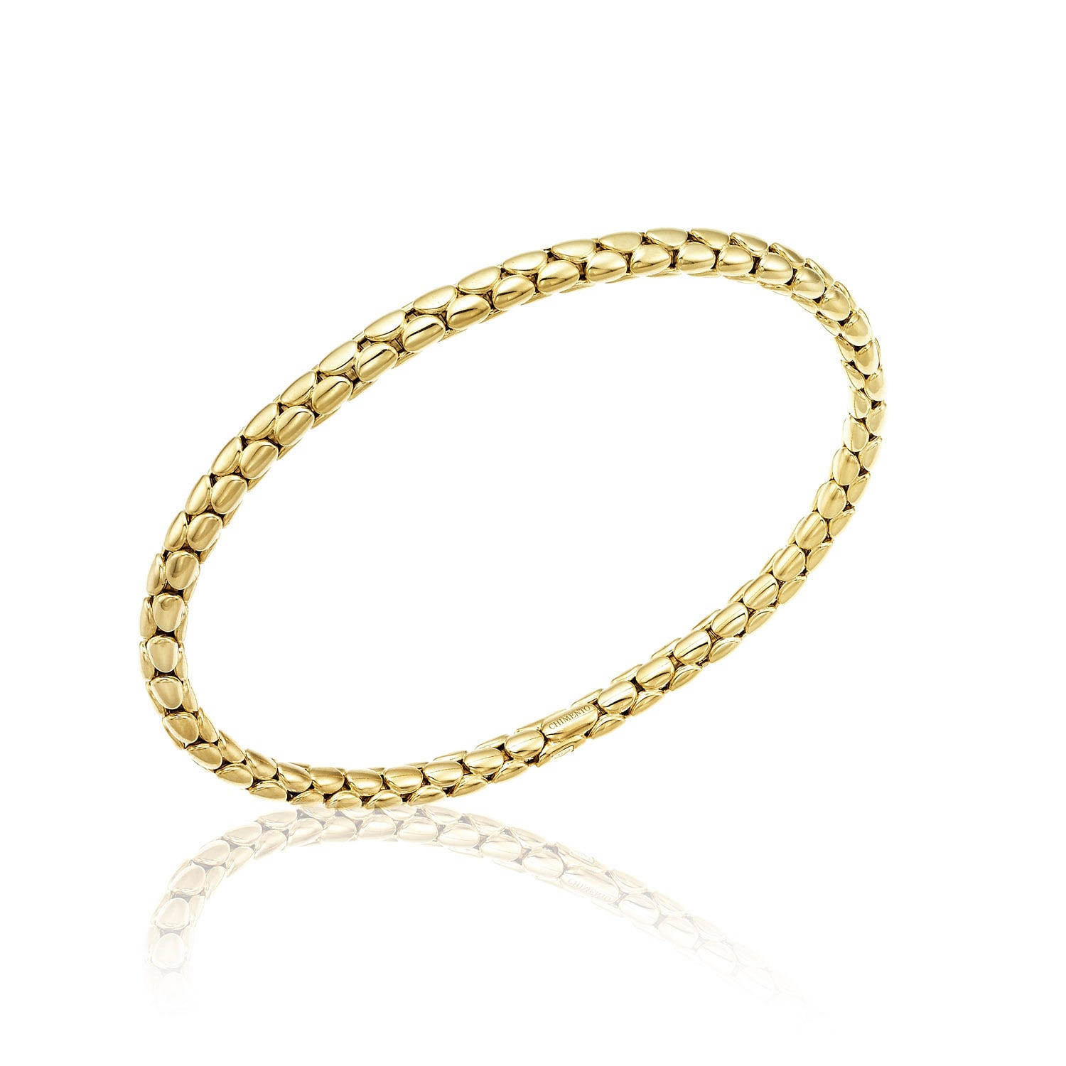 Chimento 18ct Yellow Gold Stretch Spring Thin Bracelet