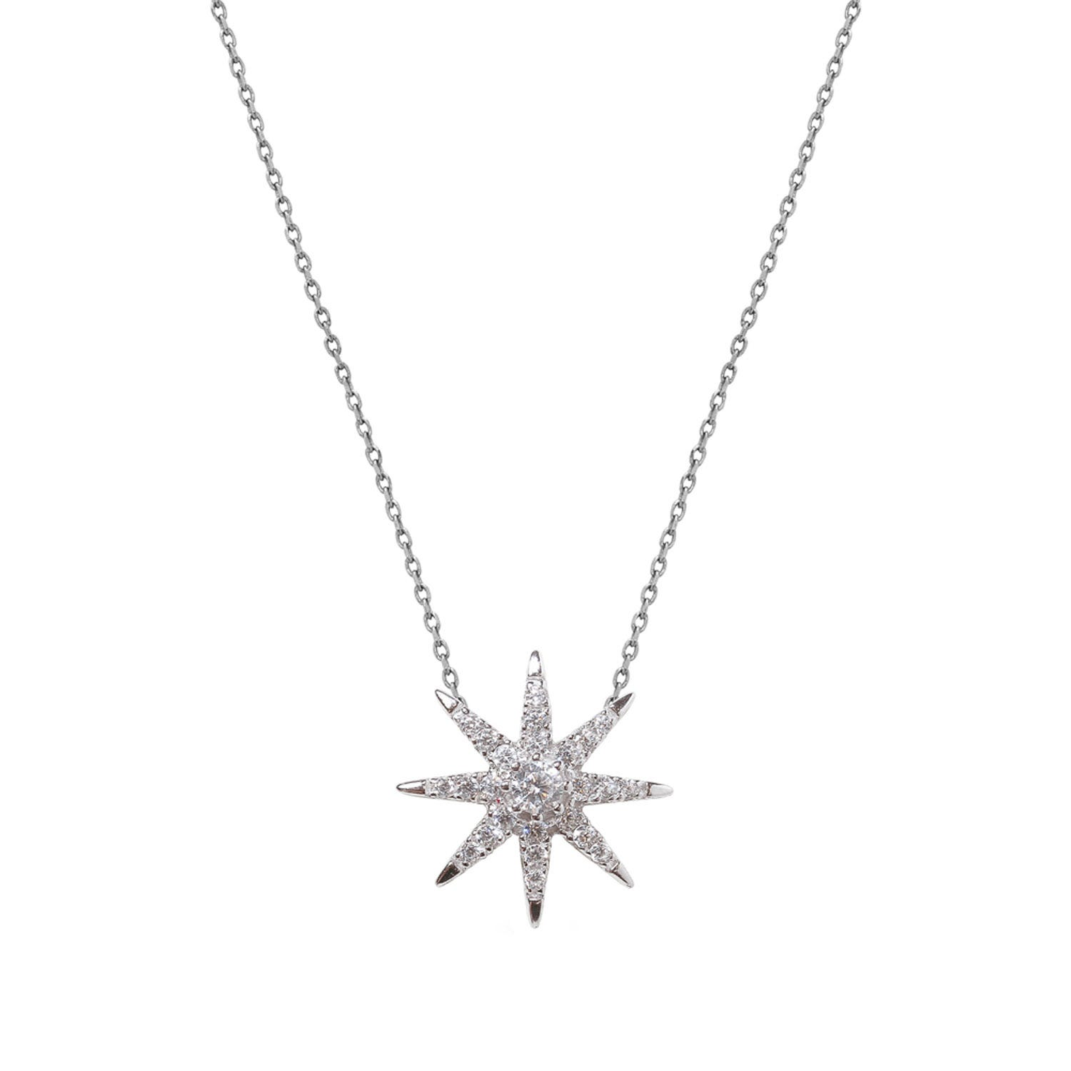 CARAT* London Stella Collection Sterling Silver Atrias Pendant & Chain
