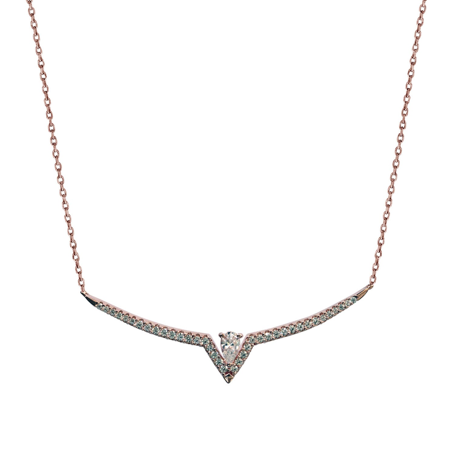 CARAT* London Victoria Collection Rose Gold Plated Sterling Silver Necklace