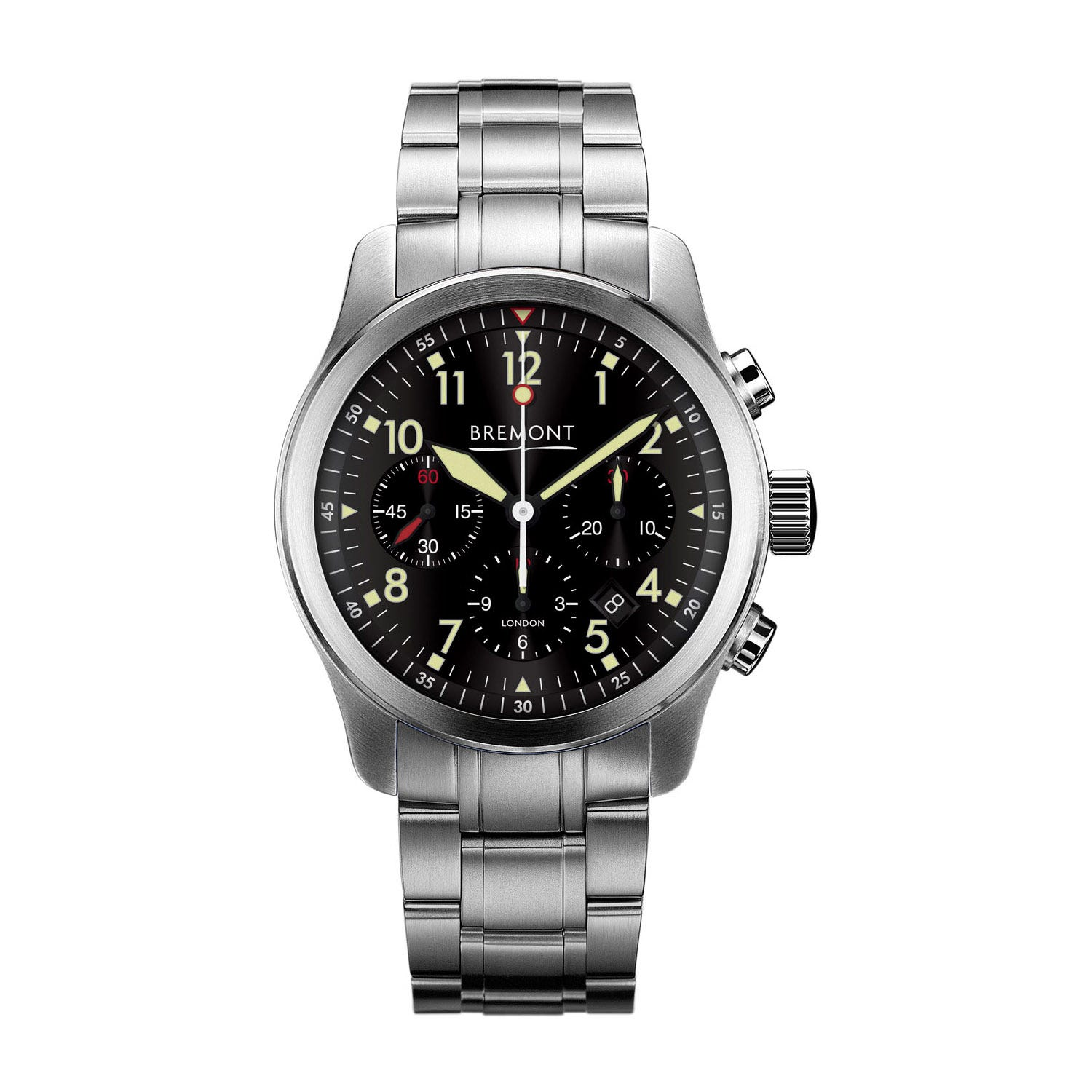 Bremont Alt1-P2 43mm Black Dial Black Strap Gents Pilot Watch