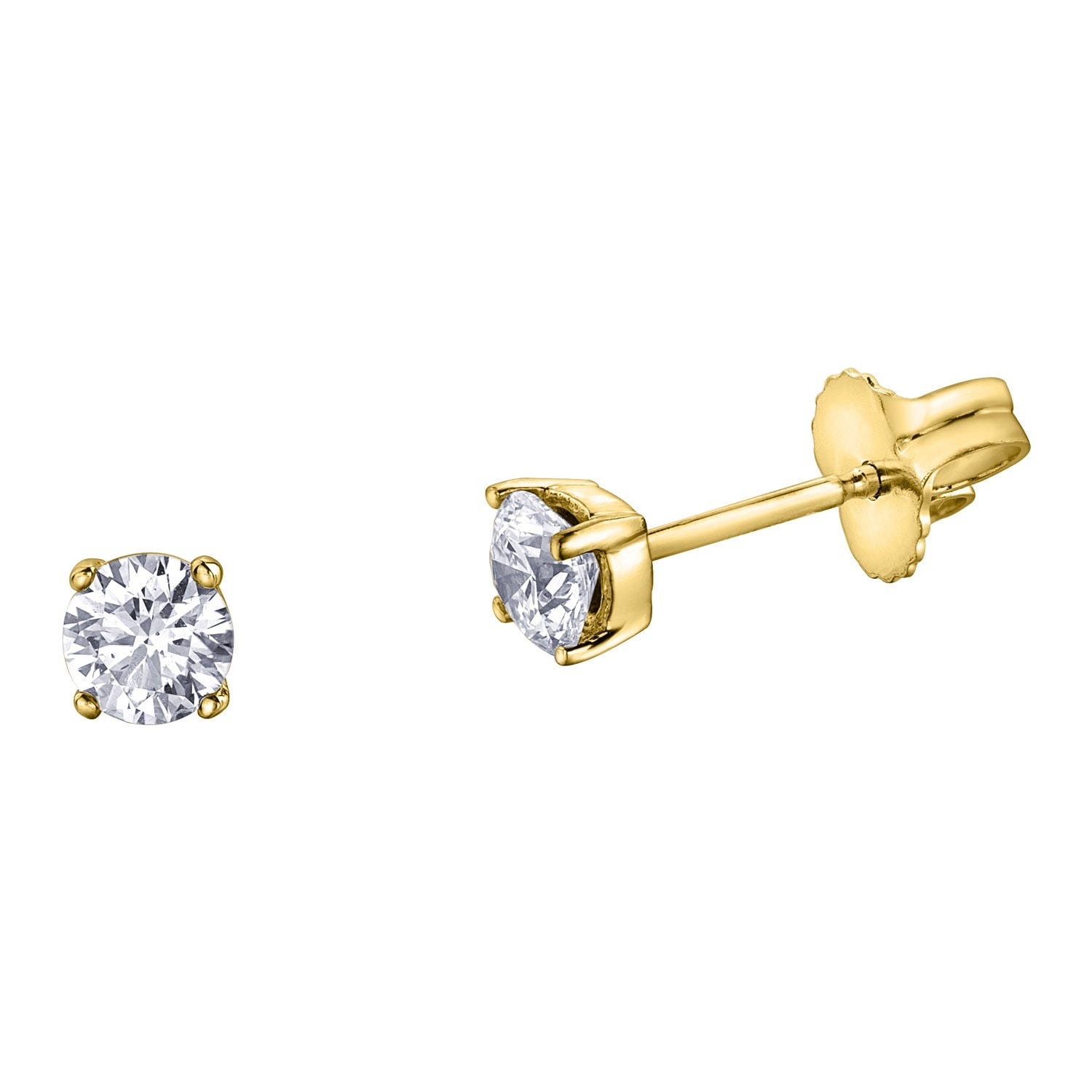 Northern Star Special Order 0.40ct Diamond 18ct Yellow Gold Stud Earrings