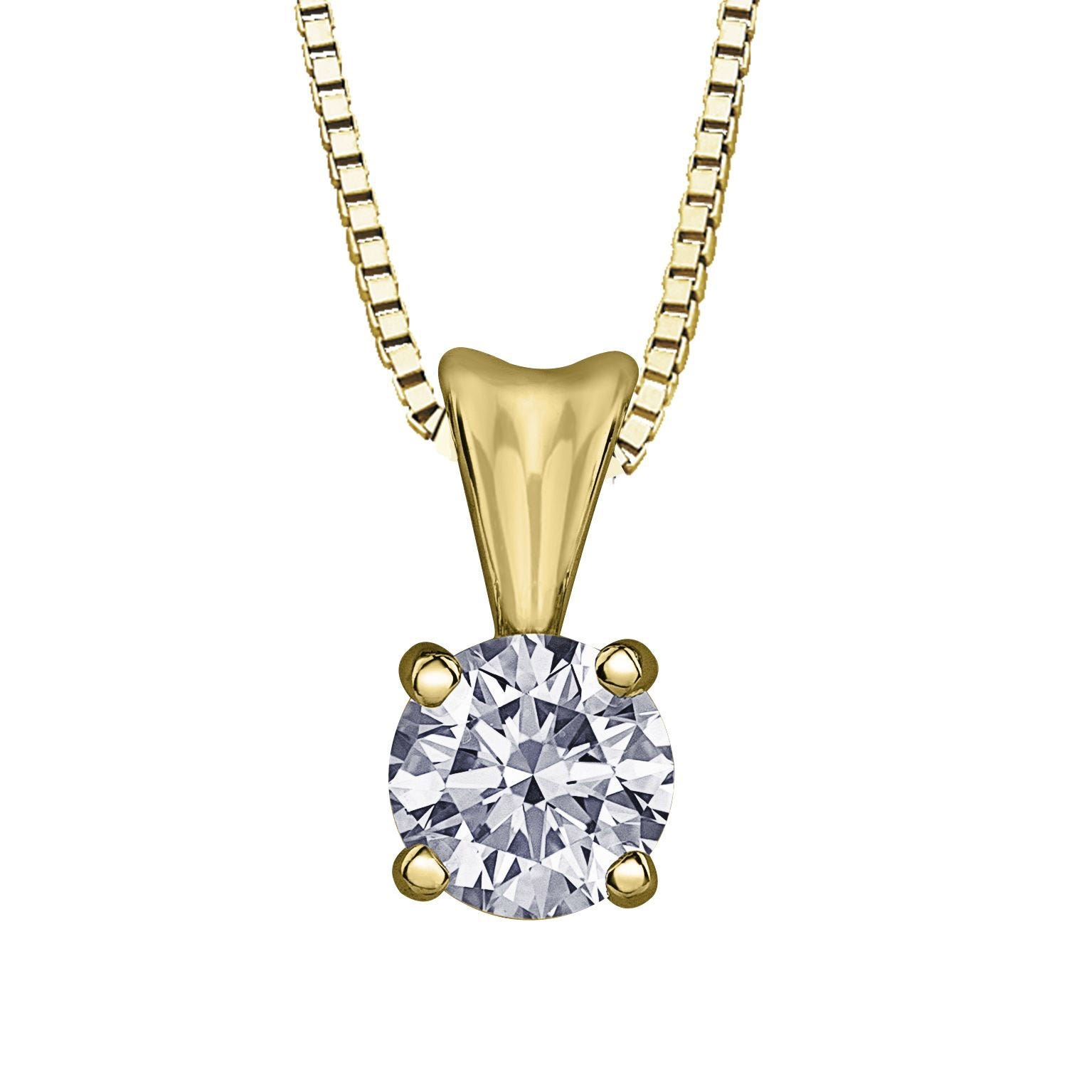Northern Star Special Order 0.30ct Diamond 18ct Yellow Gold Pendant