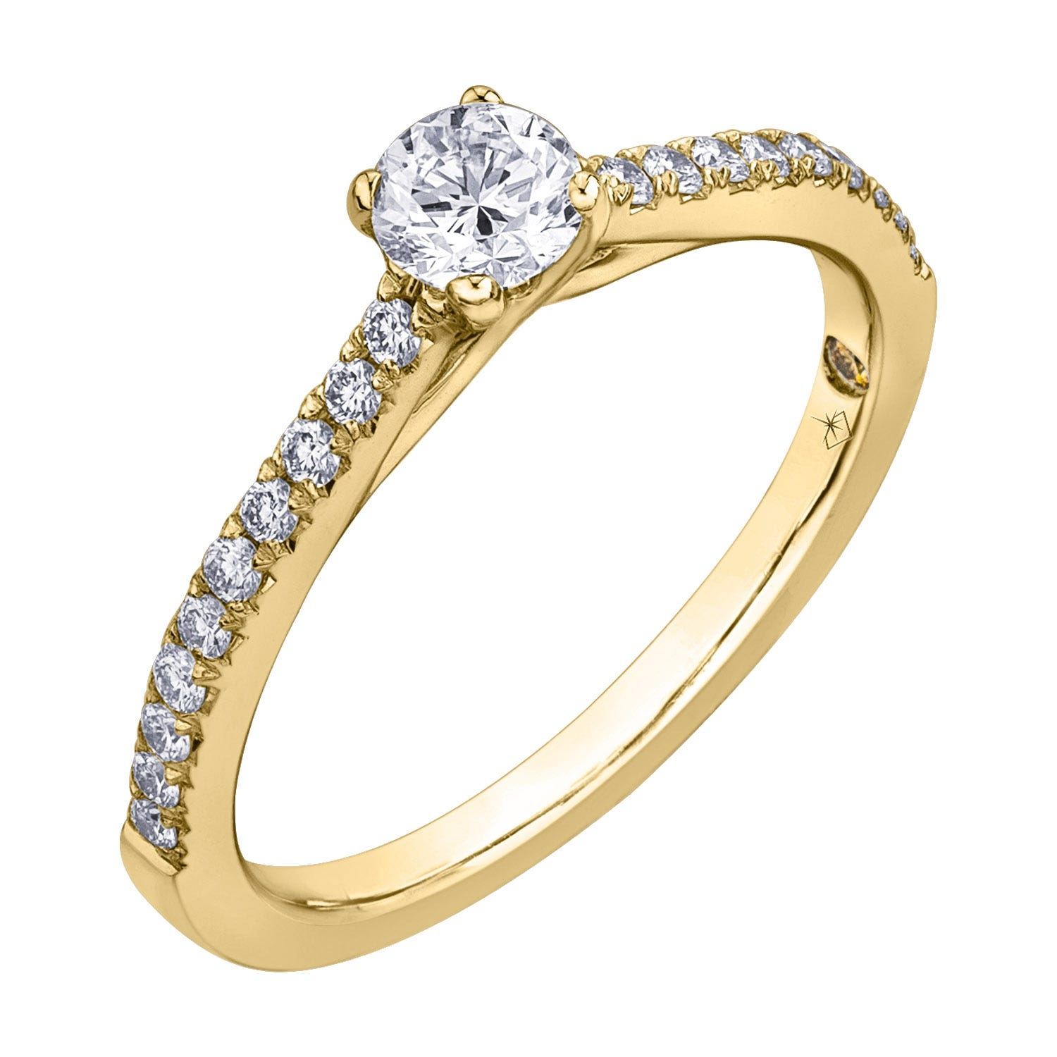 Northern Star Special Order 0.80ct Diamond Shoulders 18ct Yellow Gold Ring