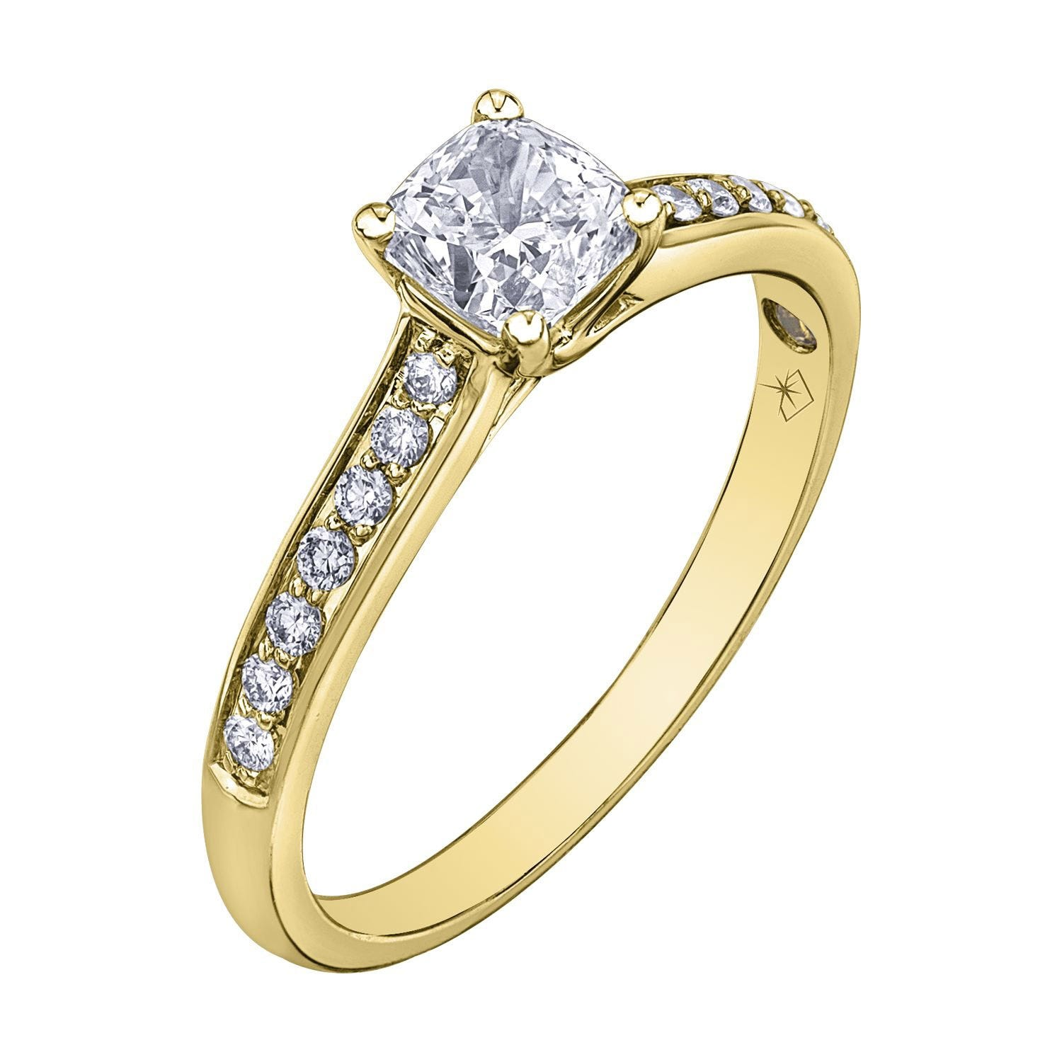 Northern Star Special Order 0.80ct Cushion Diamond 18ct Yellow Gold Ring