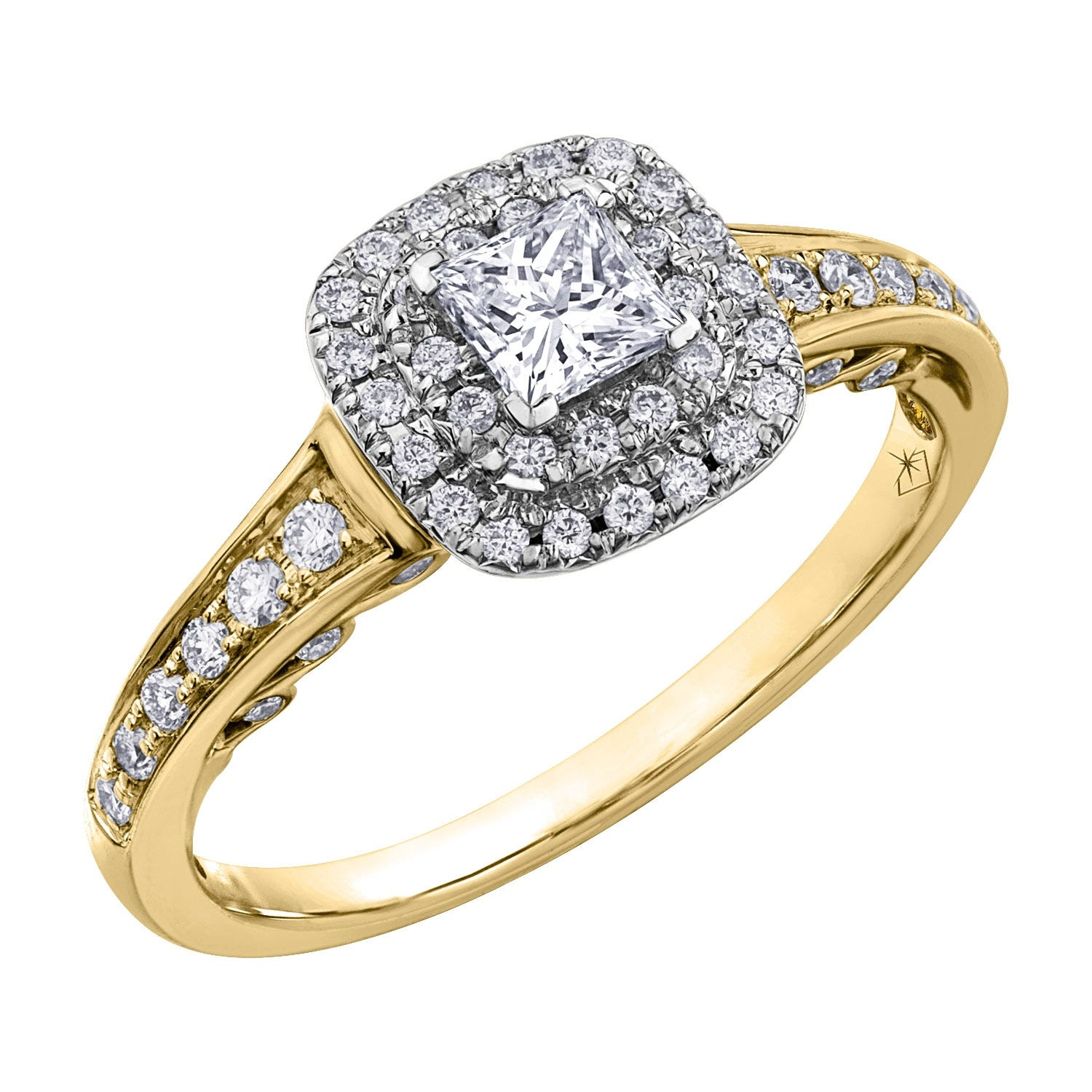 Northern Star Special Order 0.65ct Princess Diamond 18ct Yellow Gold Ring