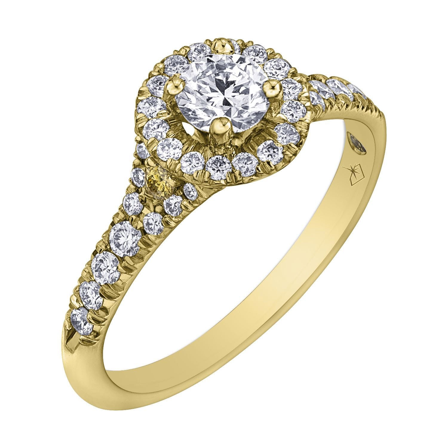 Northern Star Special Order 0.75ct Diamond 18ct Yellow Gold Halo Ring
