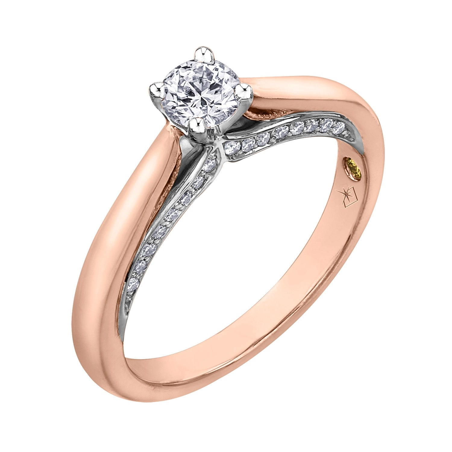Northern Star Special Order 0.55ct Diamond 18ct Rose Gold Sides Ring