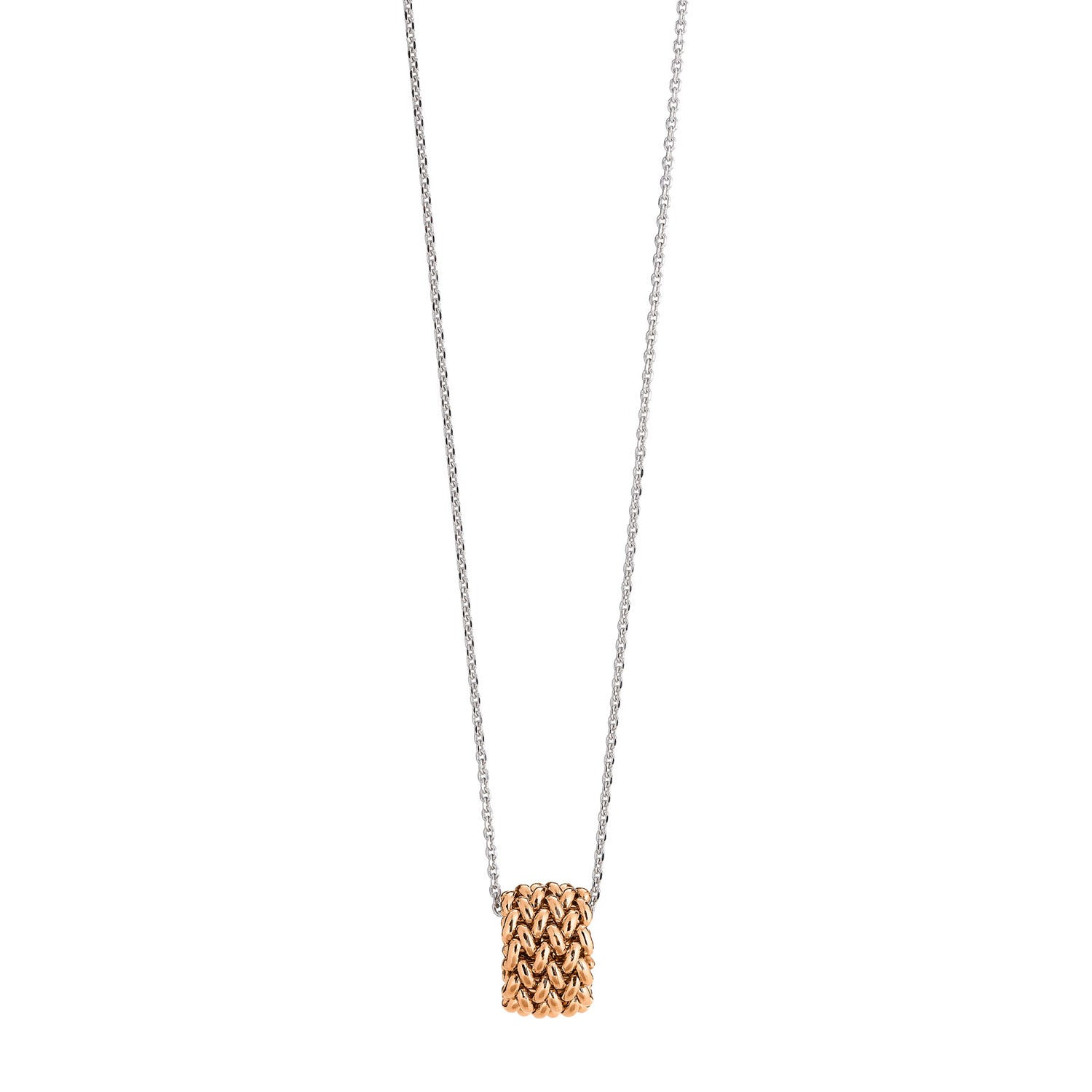 Eclat Chicco Rose Gold Plated Sterling Silver Pendant Ring Necklace