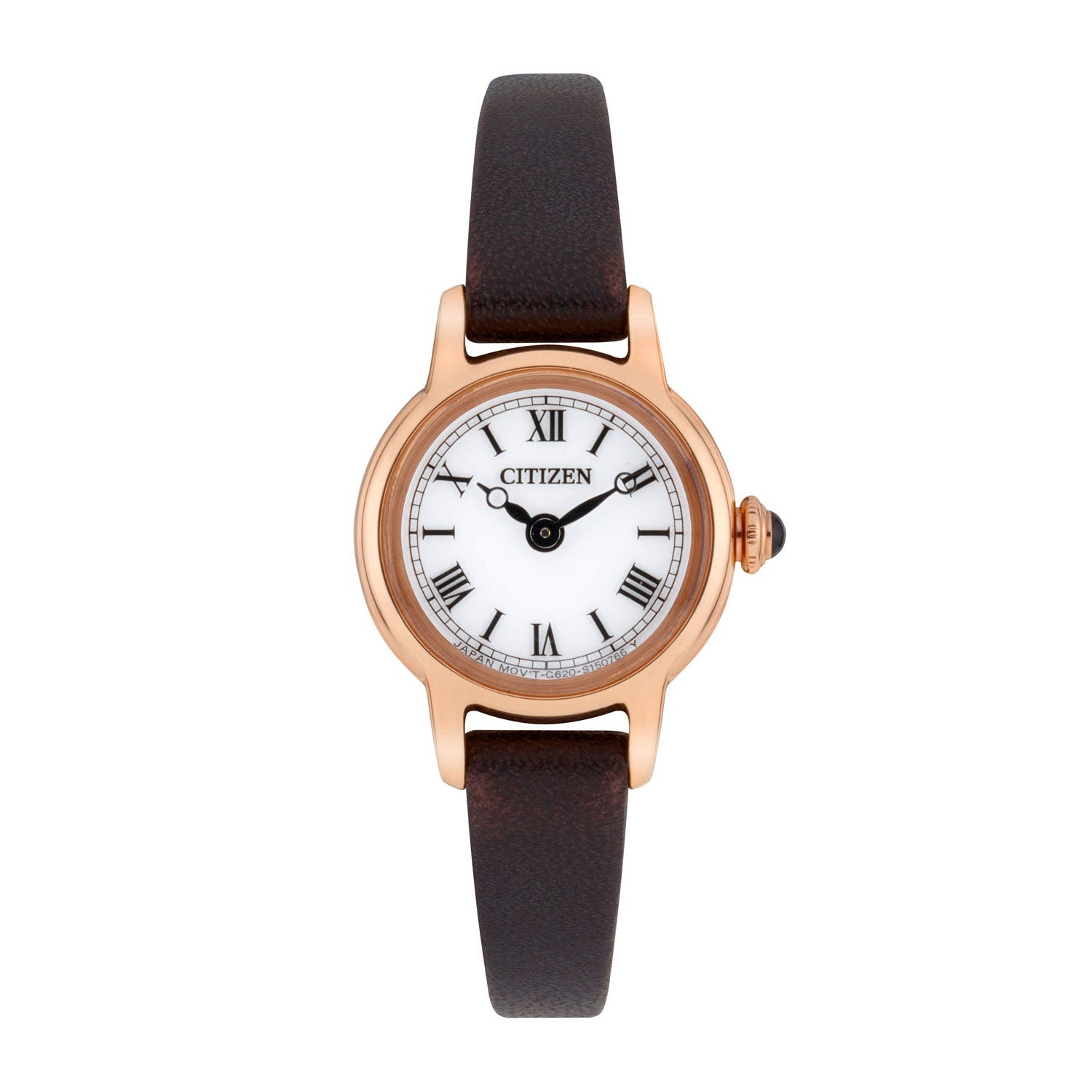 Citizen Eco-Drive Elegance Brown Leather 20mm Ladies' Watch