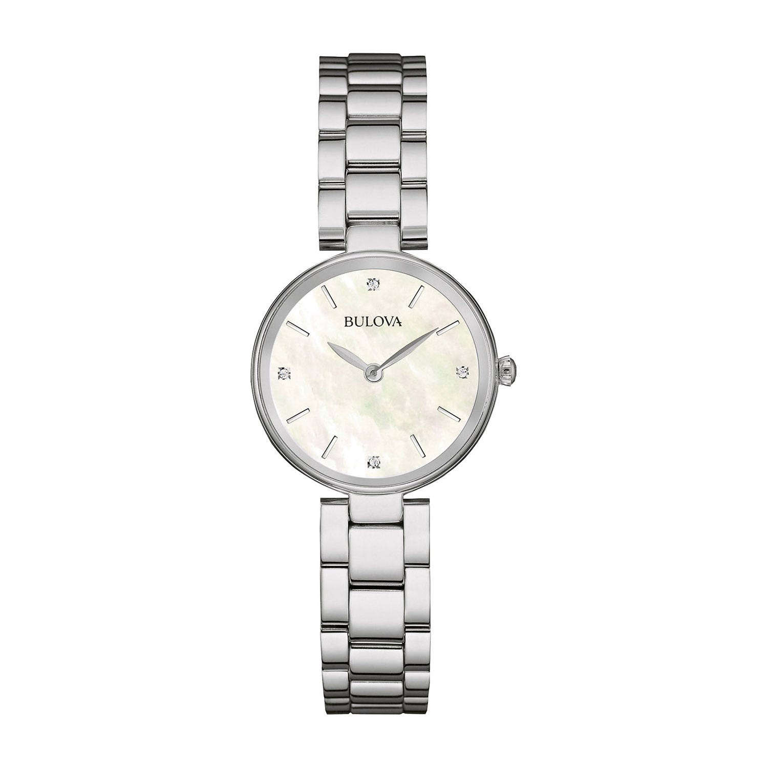 Bulova Diamond Mother of Pearl Dial Ladies Bracelet Watch