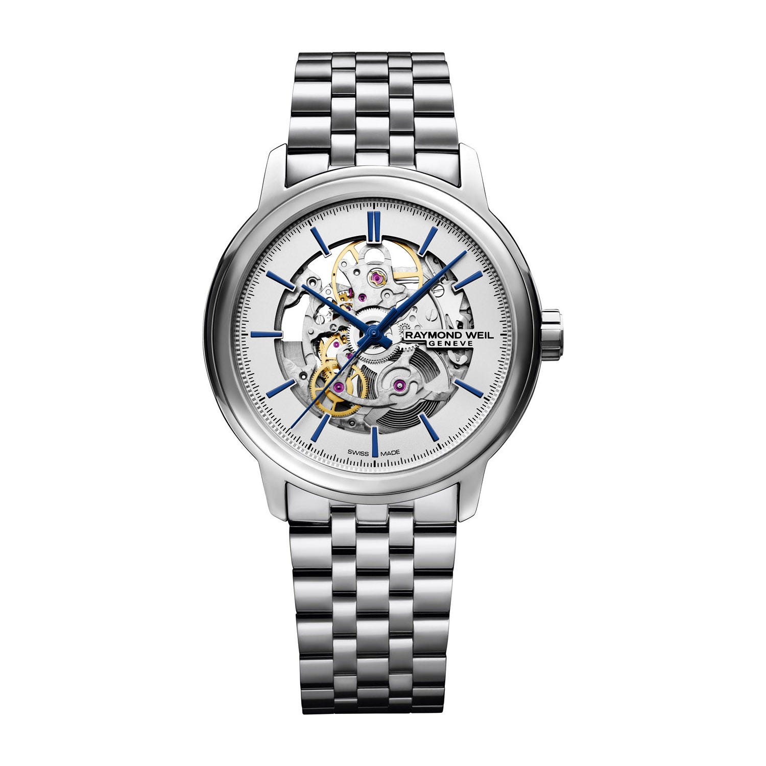 Raymond Weil Maestro Skeleton Automatic Stainless Steel Mens Watch