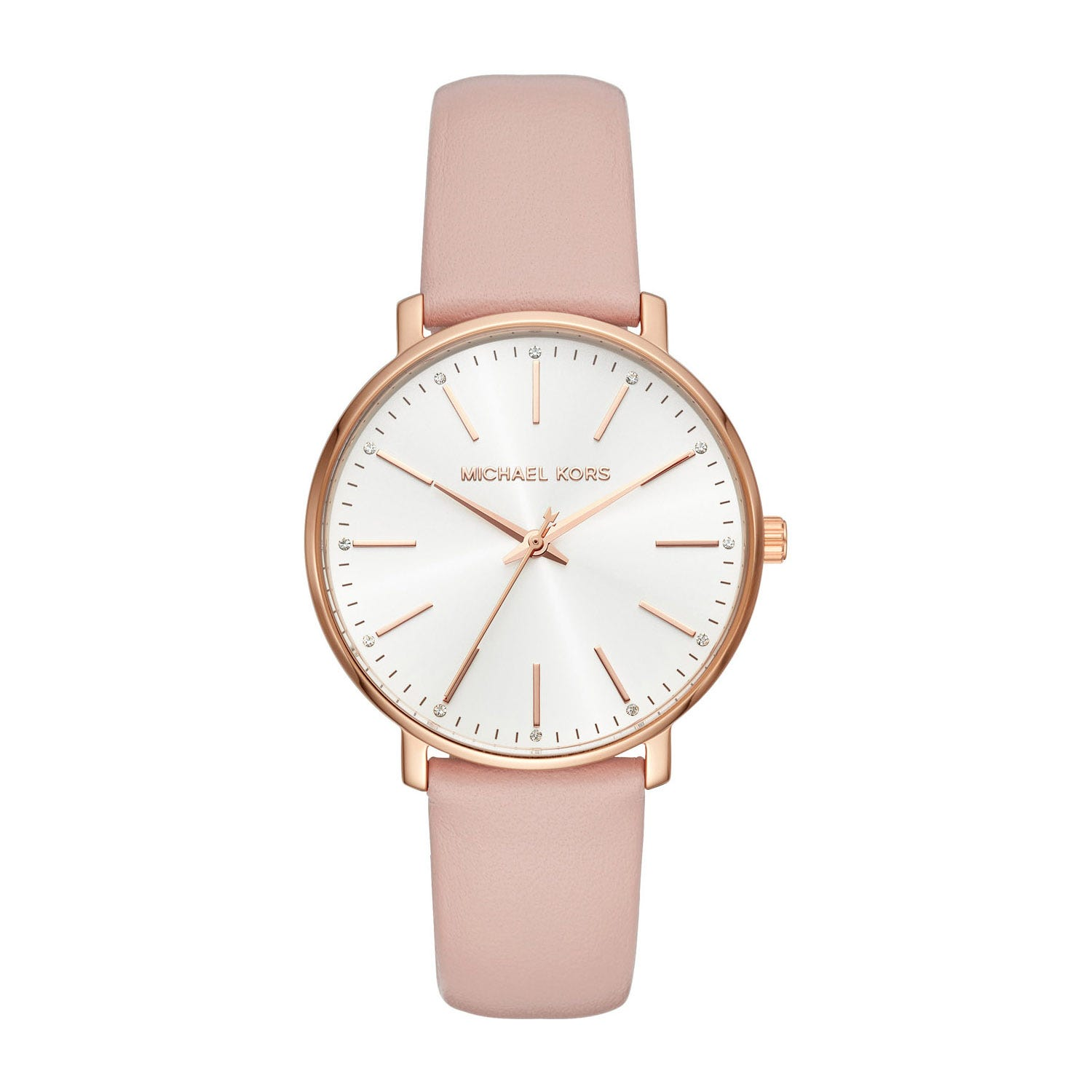 Michael Kors Pyper Pink Leather 38mm Ladies' Watch