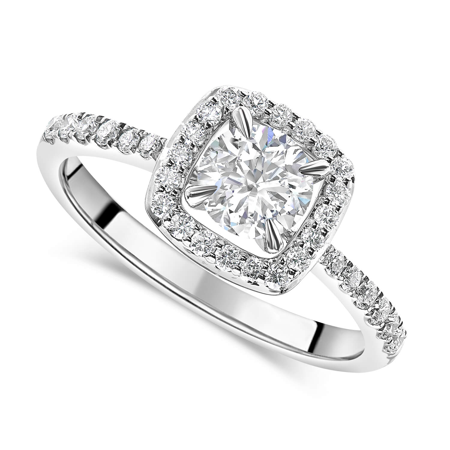9a98ed392 Halo Engagement Rings