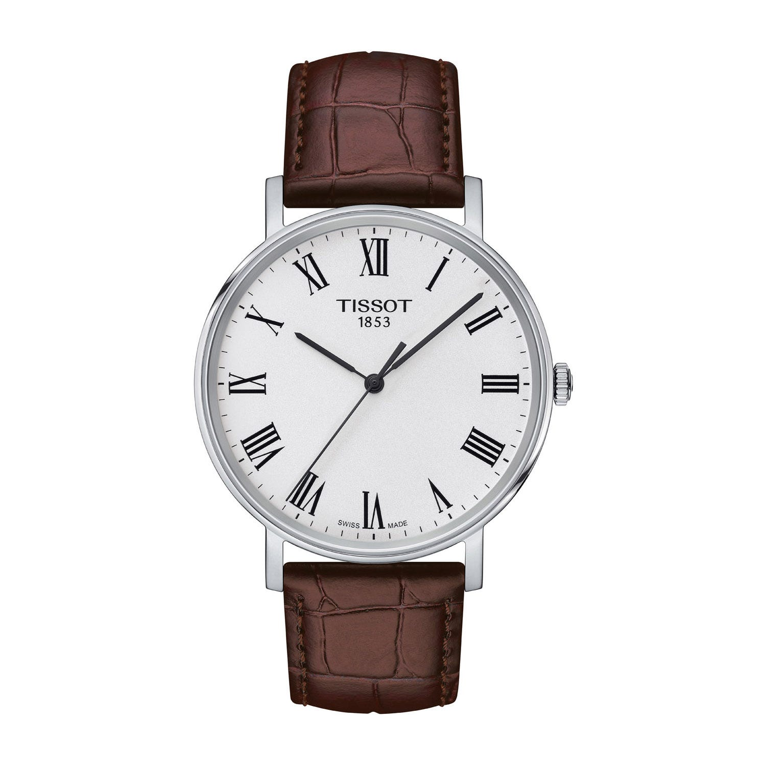 Tissot T-Classic Everytime Medium Brown Leather Men's Watch