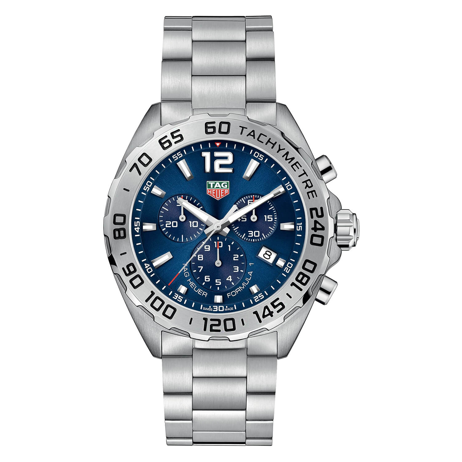 TAG Heuer F1 Tachymetre Blue Dial Steel Bracelet Men's Watch