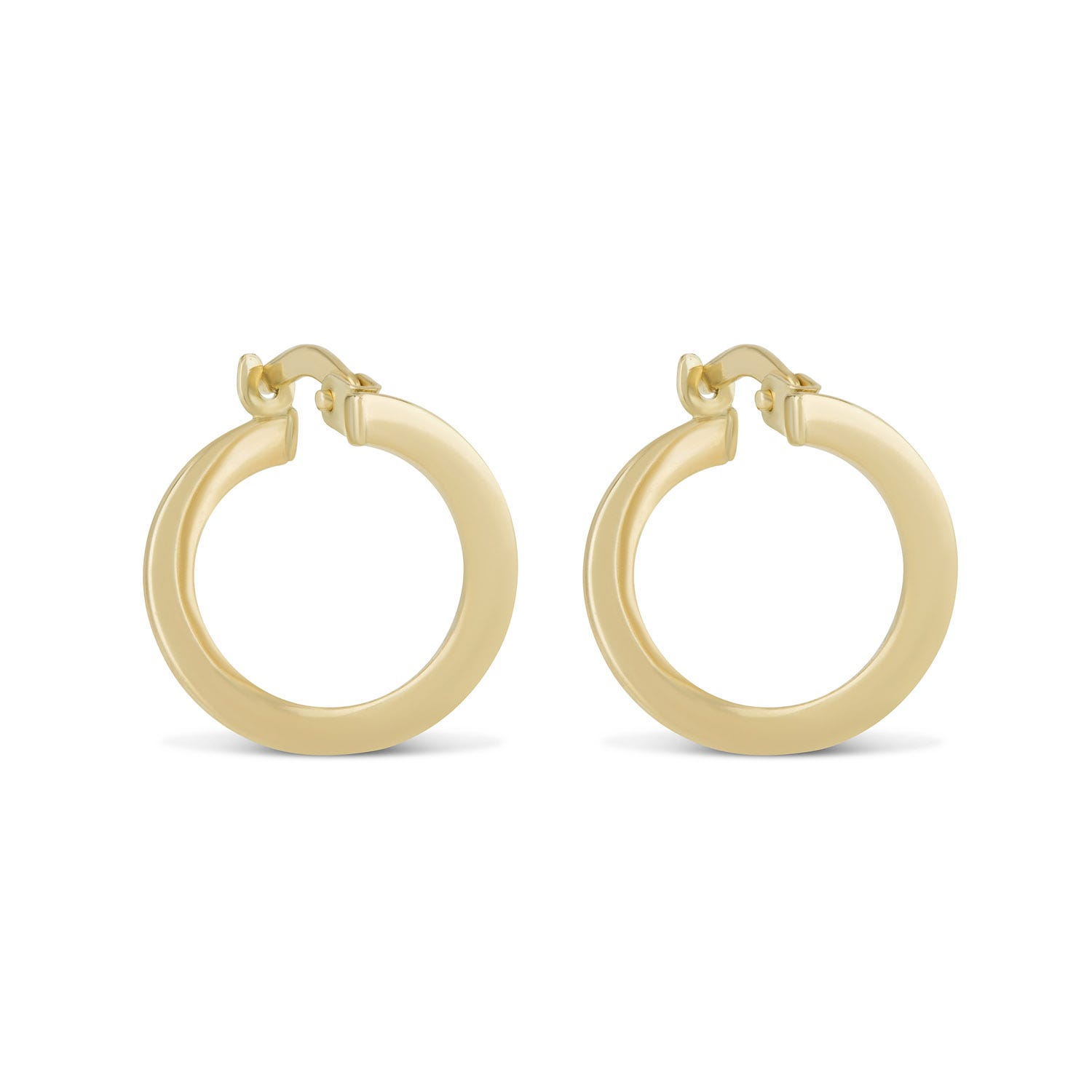 9ct Yellow Gold Contemporary Hoop Earrings