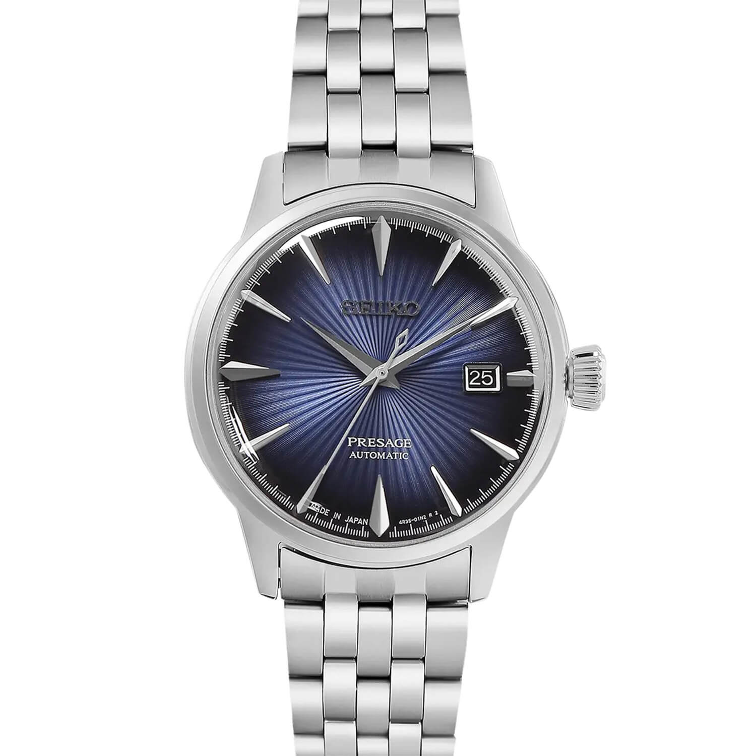 Seiko Presage Cocktail Collection Blue Dial Steel Men's Watch