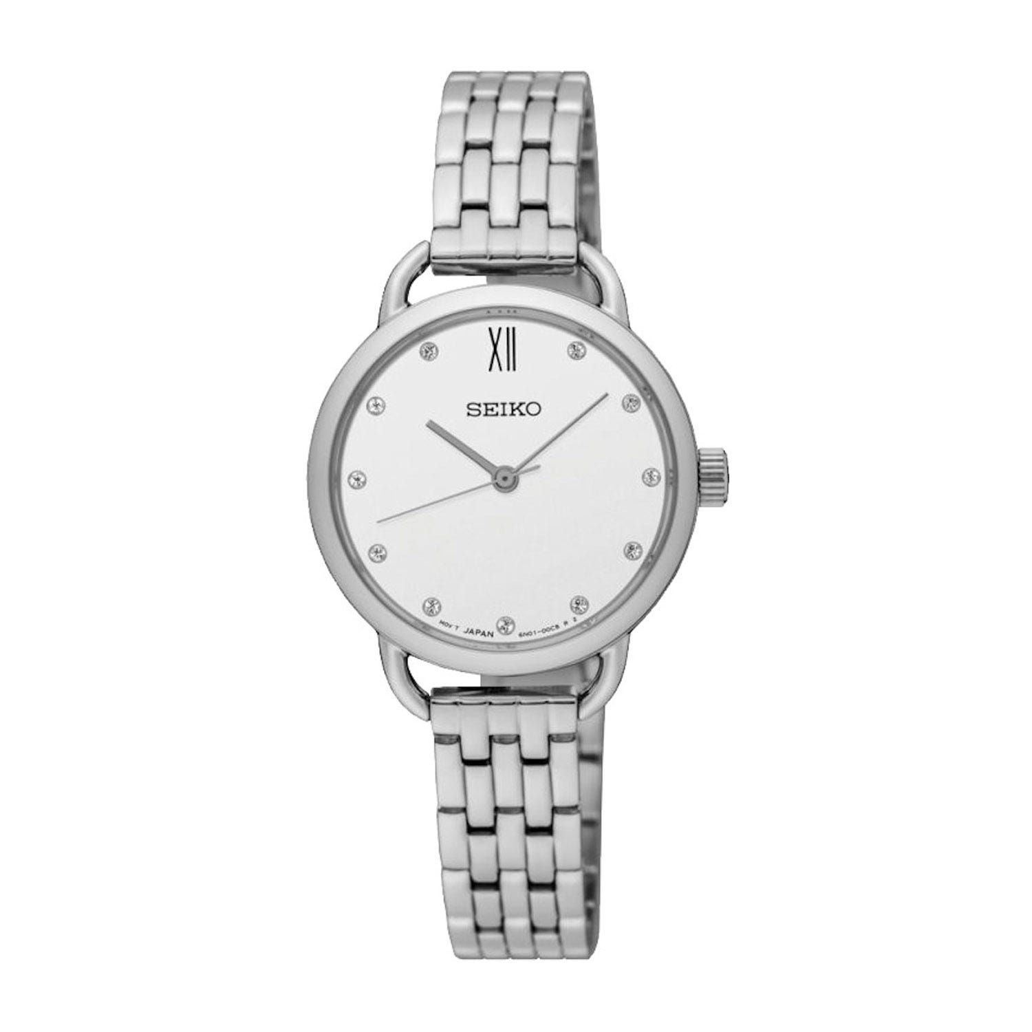Seiko Recraft Swarovski Crystal Stainless Steel Ladies' Watch