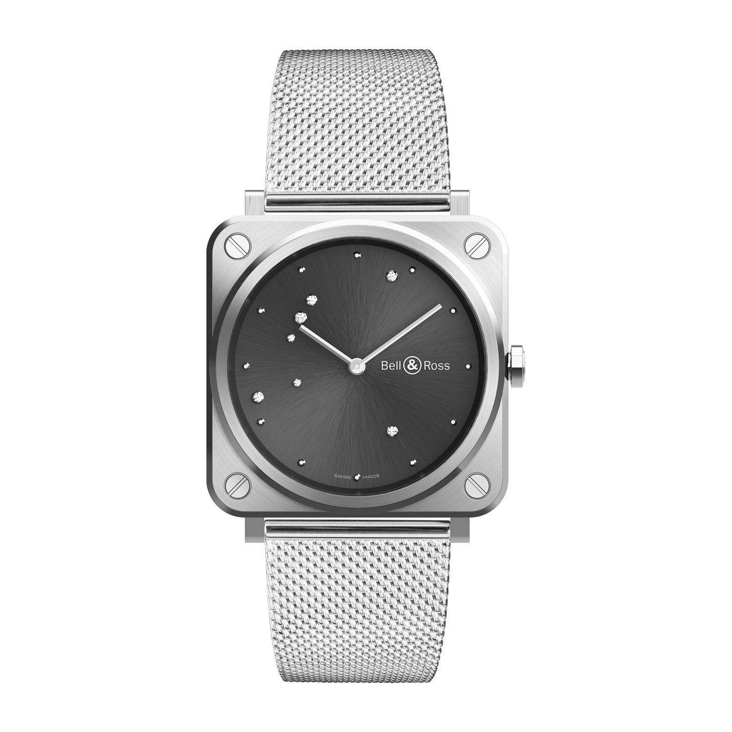 Bell & Ross Grey Diamond Eagle 39mm Ladies' Watch