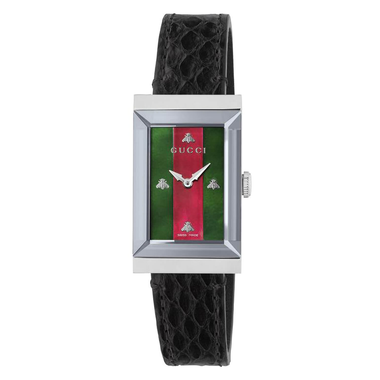 Gucci G-Frame Pearl & Leather Ladies' 21mm Watch