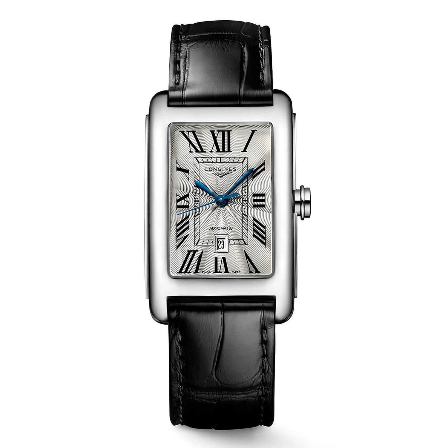 Longines DolceVita Silver Dial Leather 27mm Ladies' Watch
