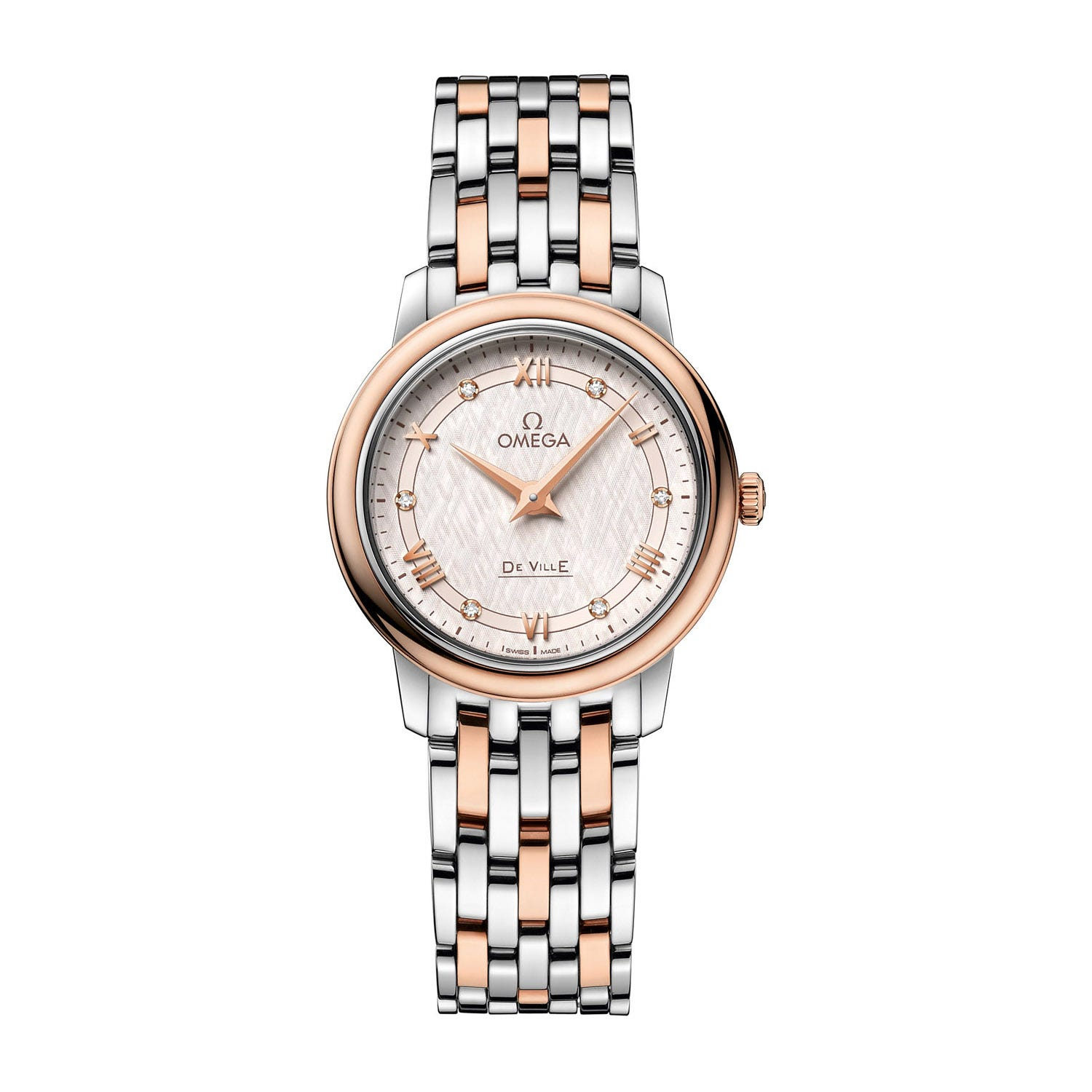 Omega De Ville Prestige Diamond Dial Sedna Gold Ladies' Watch
