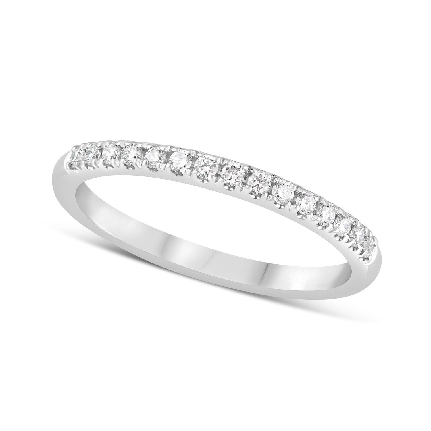 Platinum 0.16ct Amia Diamond Row Ring