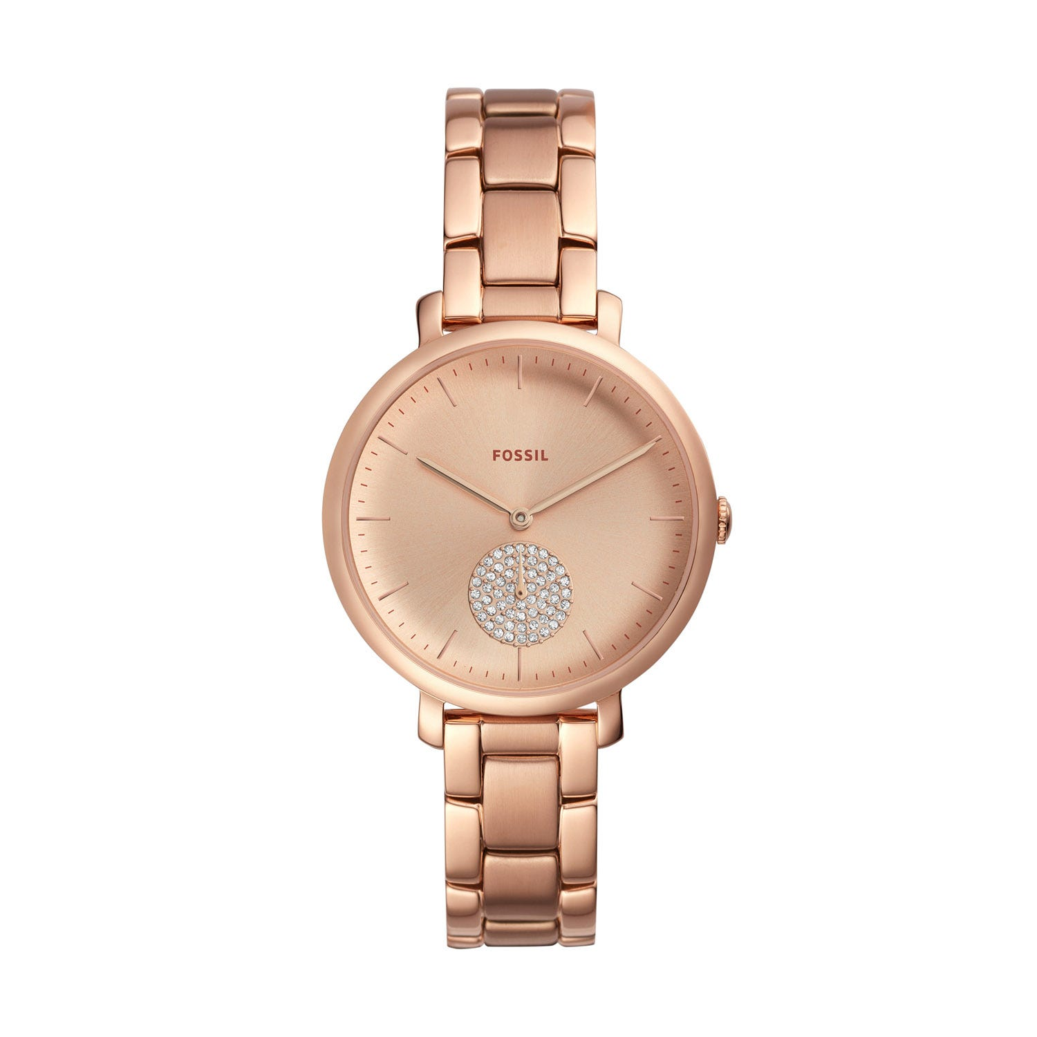 Fossil Jacqueline Crystal & Rose Gold 36mm Ladies' Watch