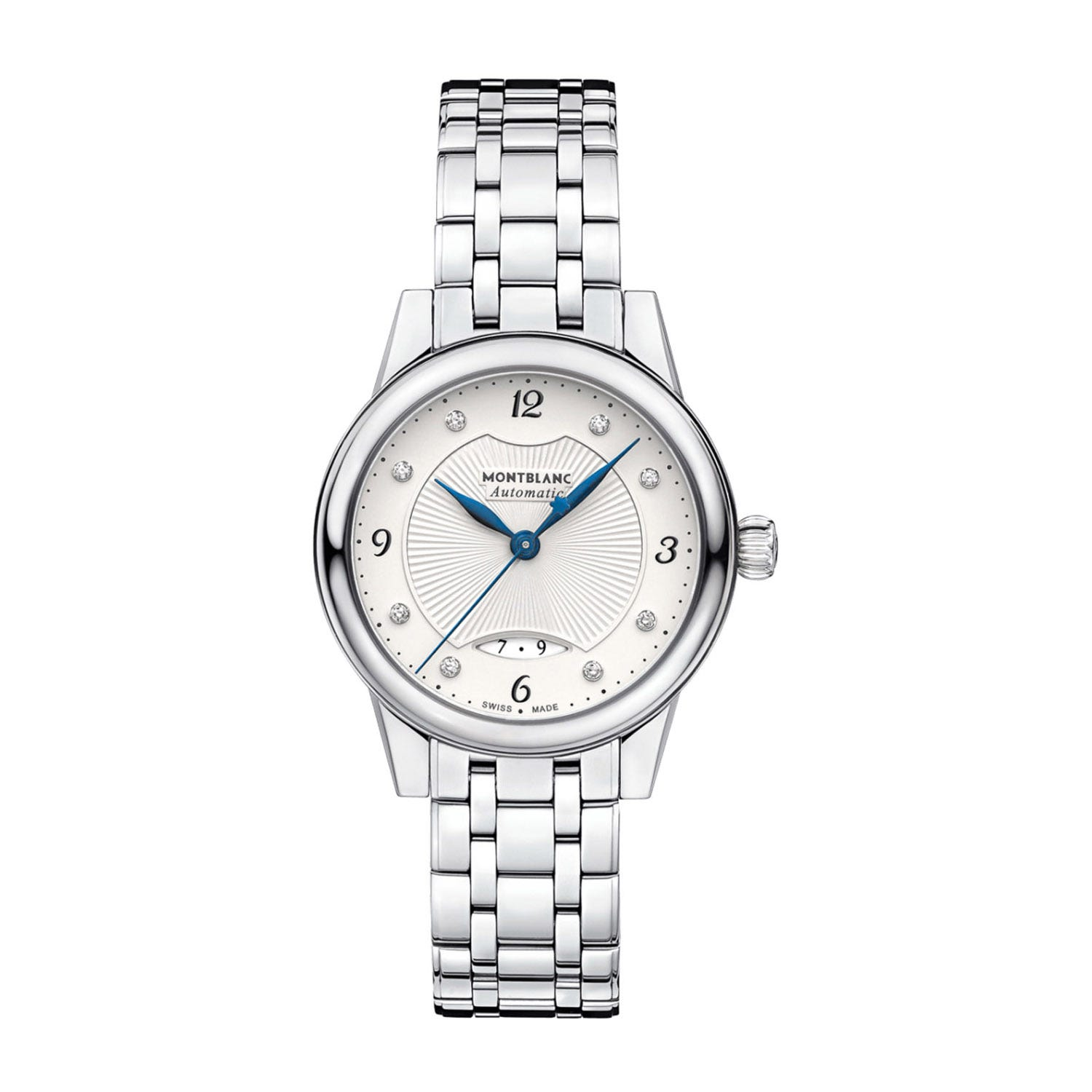 Montblanc Boheme White Diamond Dial Steel Bracelet Ladies' Watch