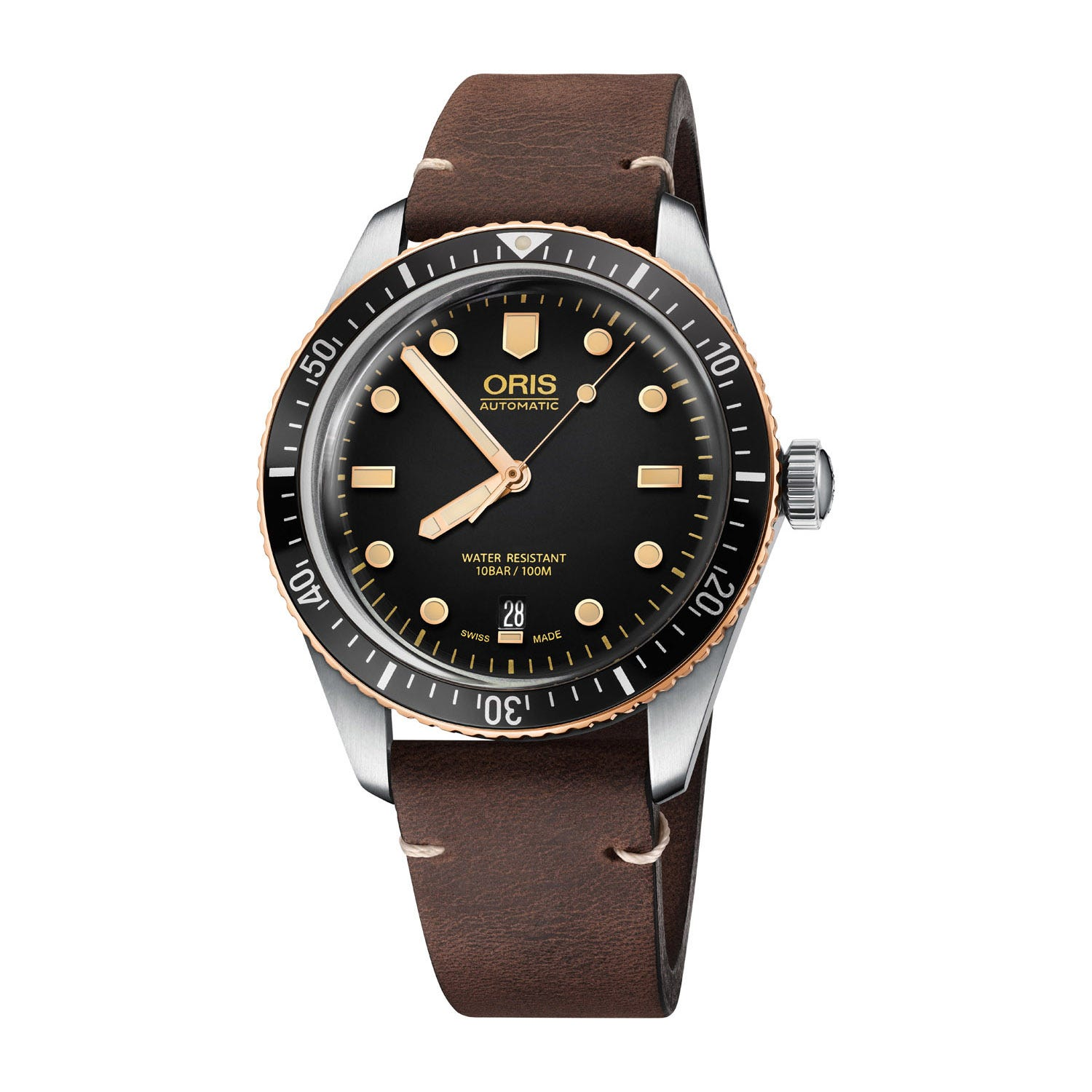 Oris Divers Sixty-Five Brown Leather 40mm Men's Watch