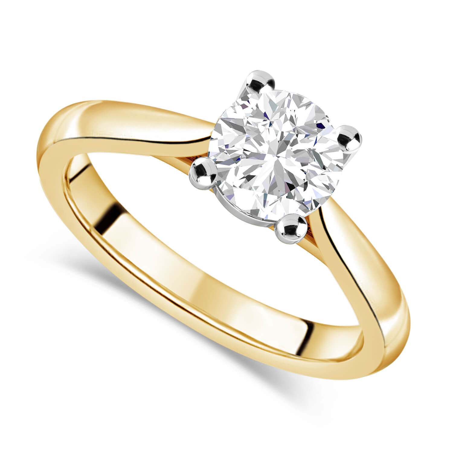 18ct Yellow Gold 1.25ct Round Diamond Fraser Hart Setting Ring