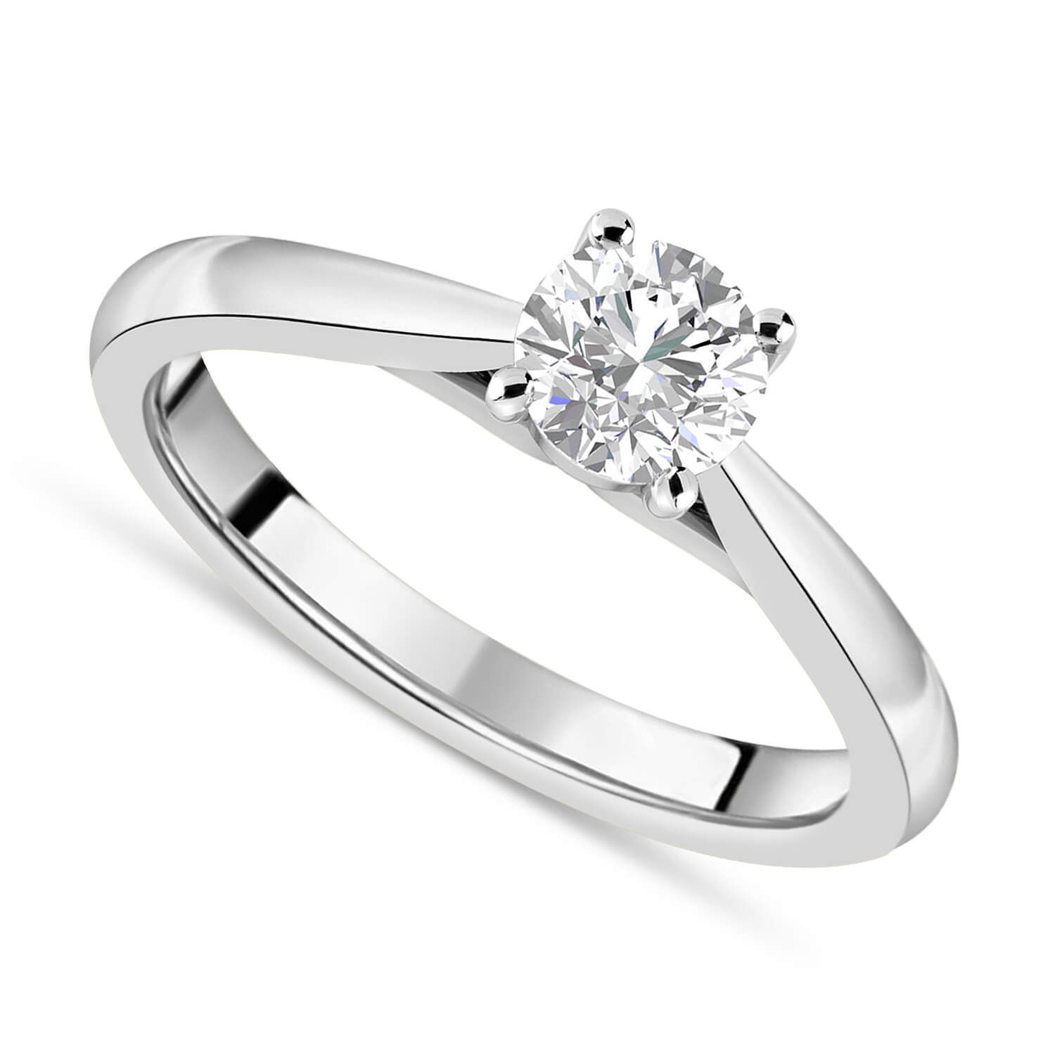 Platinum 0.70ct Round Diamond Fraser Hart Setting Ring